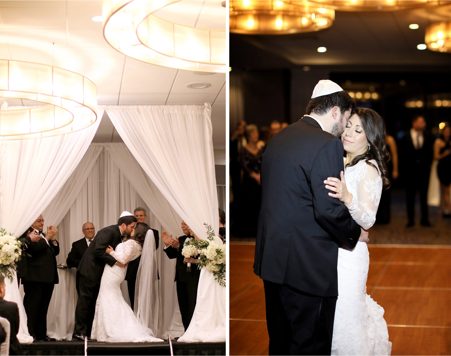 13-Minneapolis-Minnesota-Wedding-Photographer-by-Andrew-Vick-Photography-Winter-Hyatt-Regency-Hotel-Ceremony-Bride-Groom-Kiss-Yarmulke-Chuppah-Reception-Dance-Amy-and-Jordan.jpg