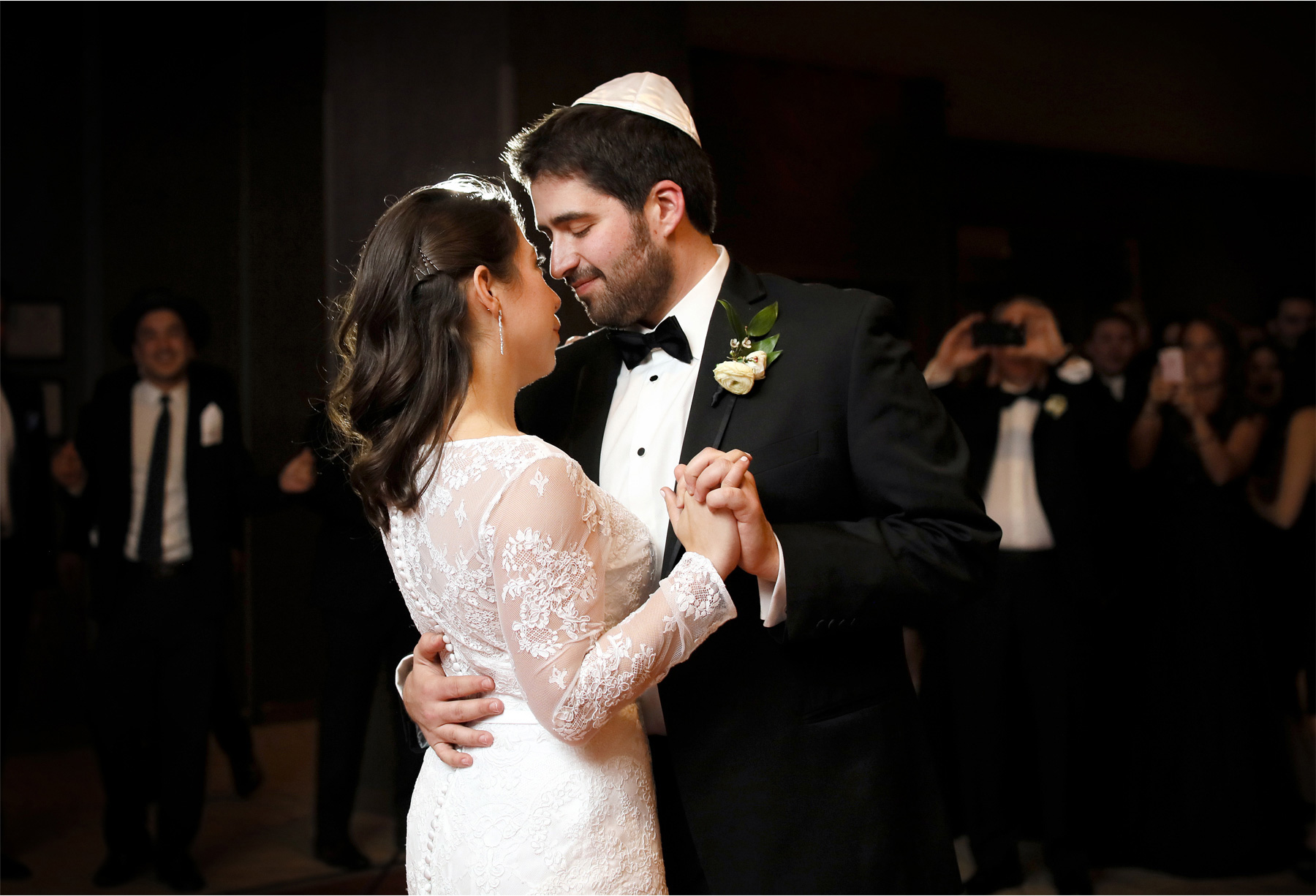 14-Minneapolis-Minnesota-Wedding-Photographer-by-Andrew-Vick-Photography-Winter-Hyatt-Regency-Hotel-Reception-Bride-Groom-Dance-Yarmulke-Amy-and-Jordan.jpg