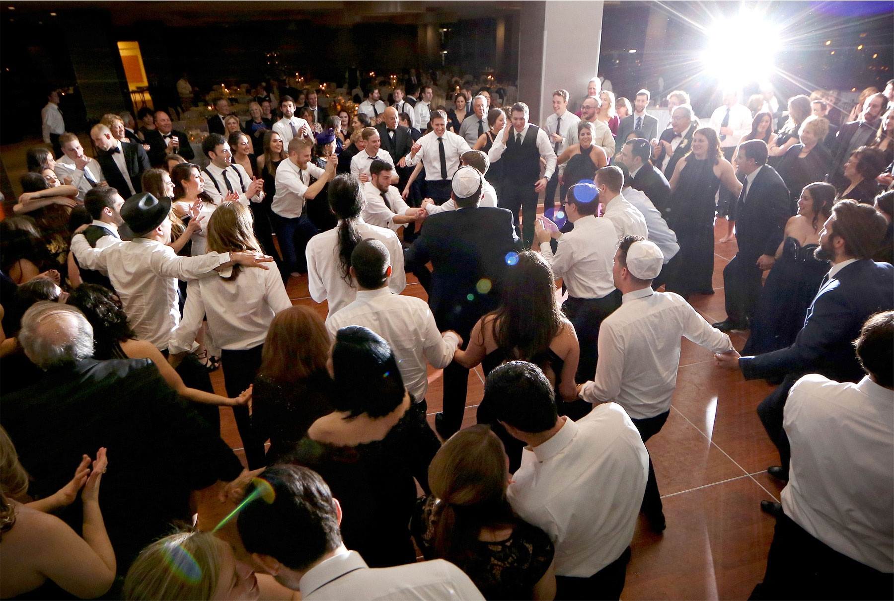 19-Minneapolis-Minnesota-Wedding-Photographer-by-Andrew-Vick-Photography-Winter-Hyatt-Regency-Hotel-Reception-Groom-Father-Parents-Guests-Horah-Dance-Yarmulke-Amy-and-Jordan.jpg