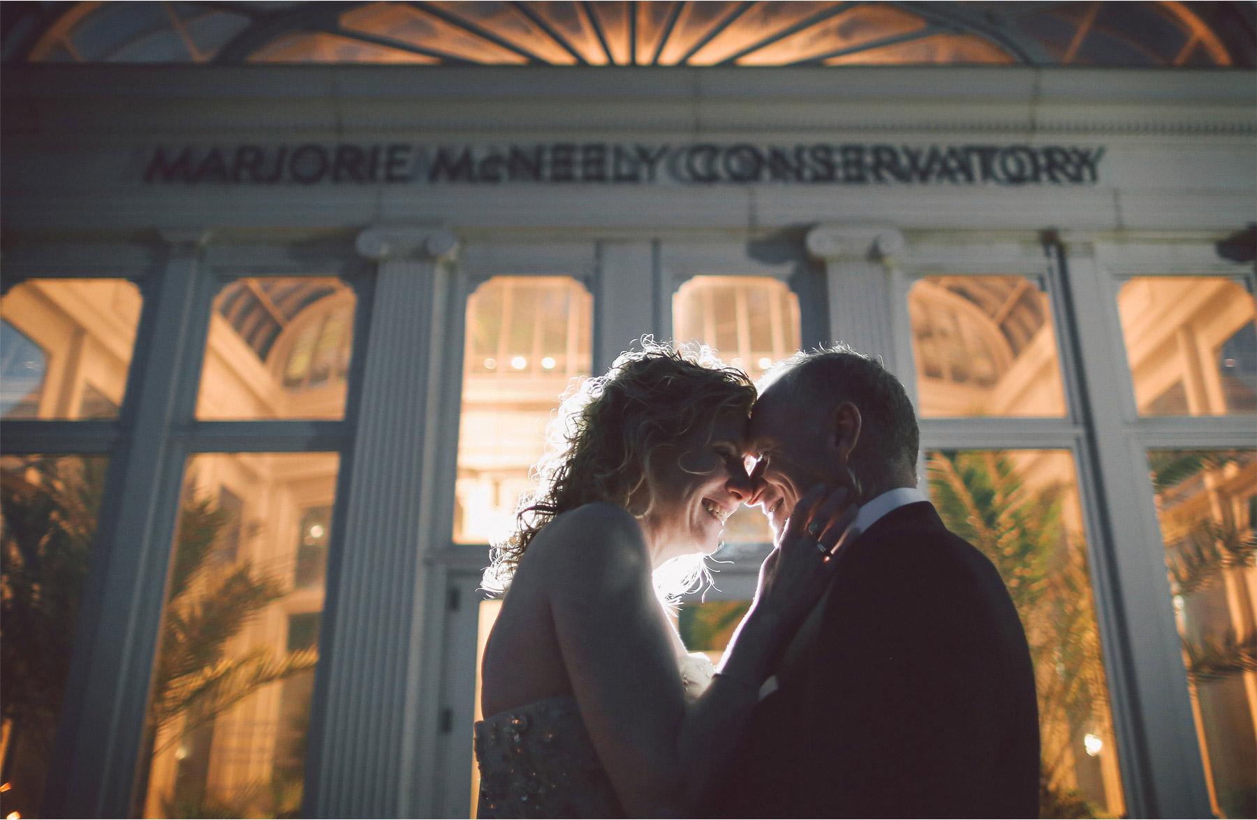 09-Saint-Paul-Minnesota-Wedding-Photographer-by-Andrew-Vick-Photography-Winter-Como-Park-Conservatory-Sunken-Garden-Bride-Groom-Embrace-Night-Vintage-Dannette-and-Darren.jpg