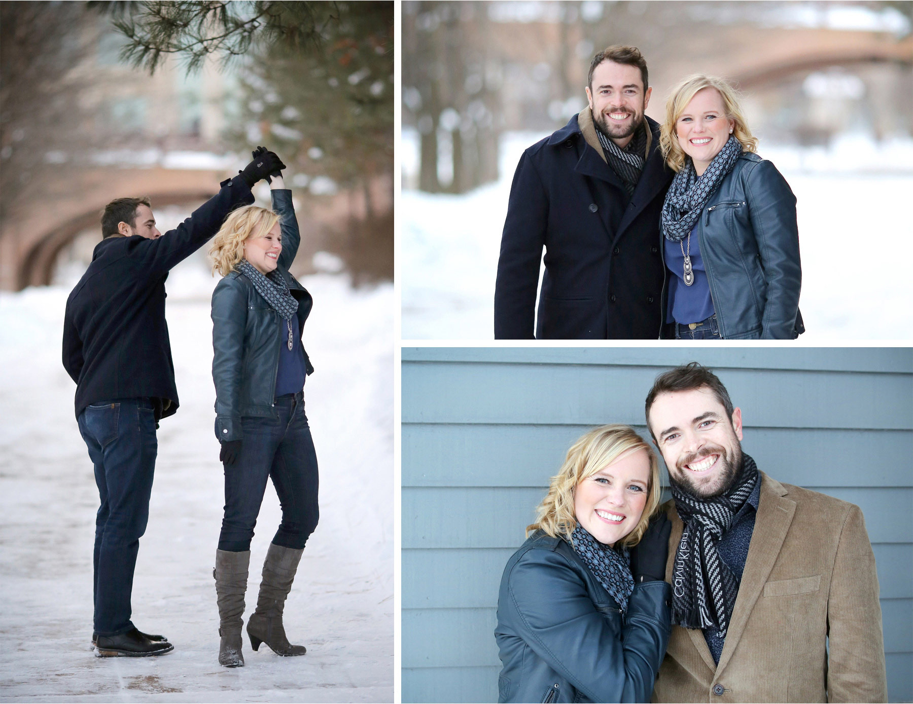 03-Edina-Minnesota-Wedding-Photographer-by-Andrew-Vick-Photography-Winter-Engagement-Bride-Groom-Snow-Twirl-Embrace-Heather-and-Rob.jpg