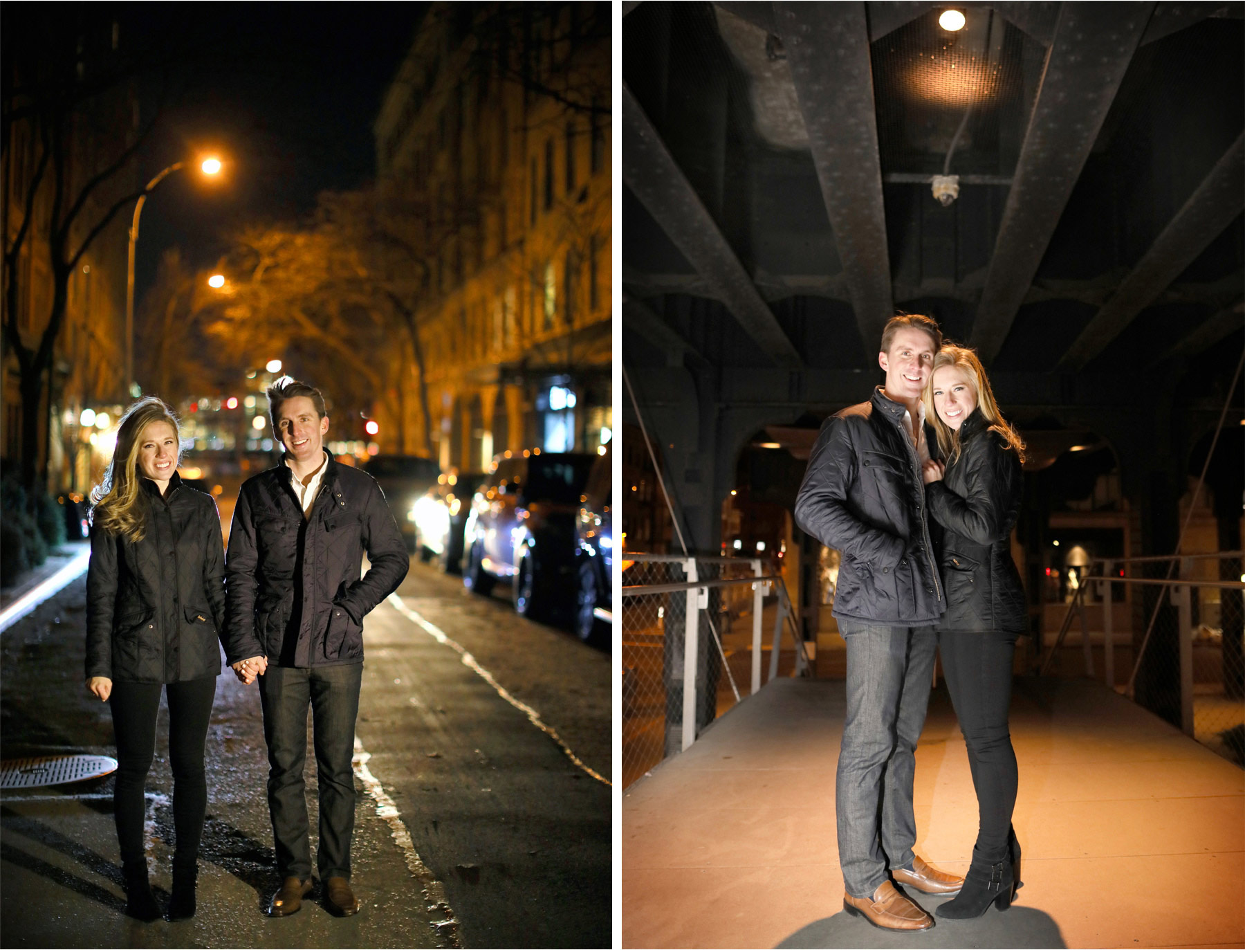10-New-York-City-Wedding-Photographer-by-Andrew-Vick-Photography-Winter-Engagement-Bride-Groom-Night-Embrace-Emily-and-Jon.jpg