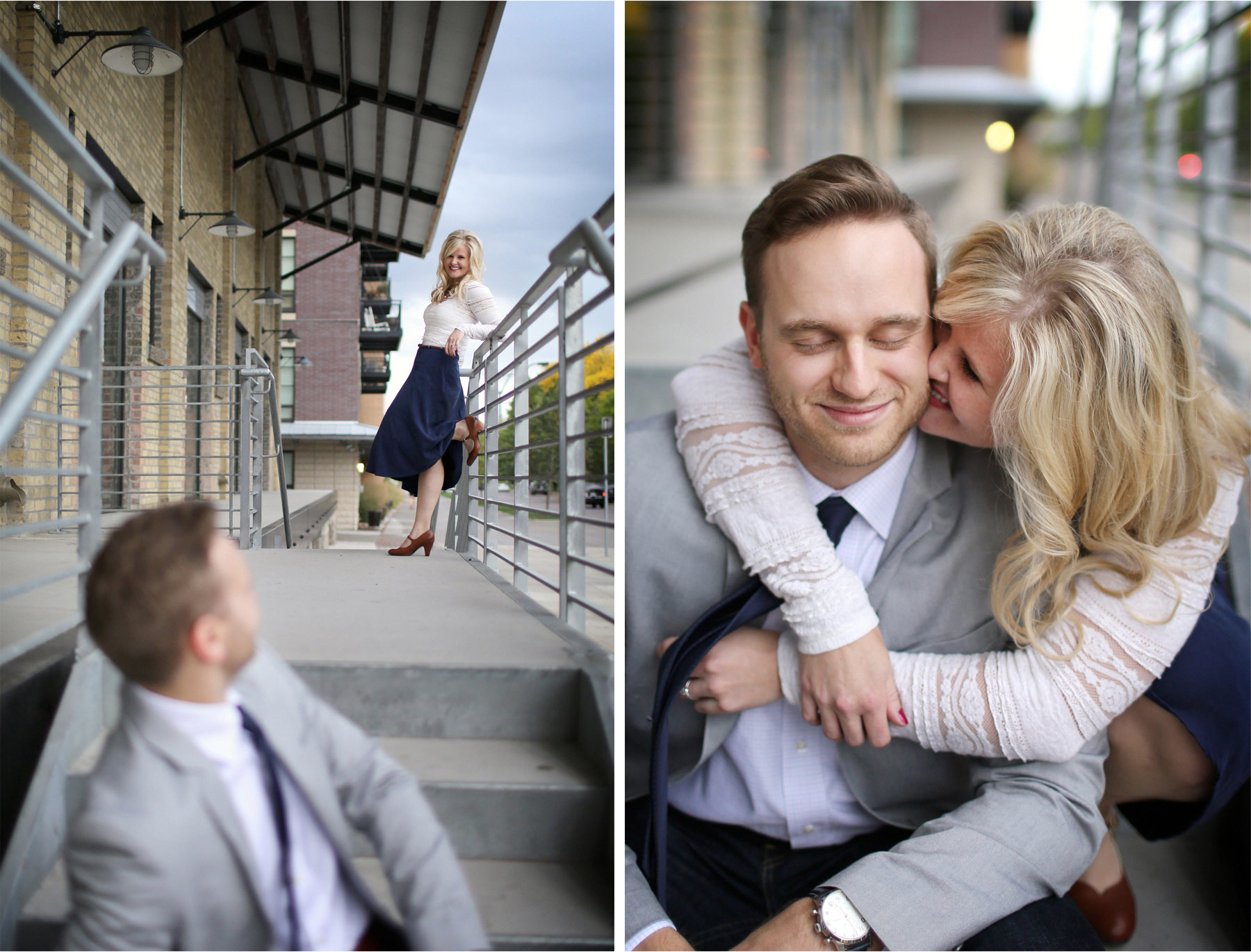 04-Minneapolis-Minnesota-Wedding-Photographer-by-Andrew-Vick-Photography-Fall-Autumn-Engagement-Bride-Groom-Downtown-Kiss-Mallory-and-Kyle.jpg