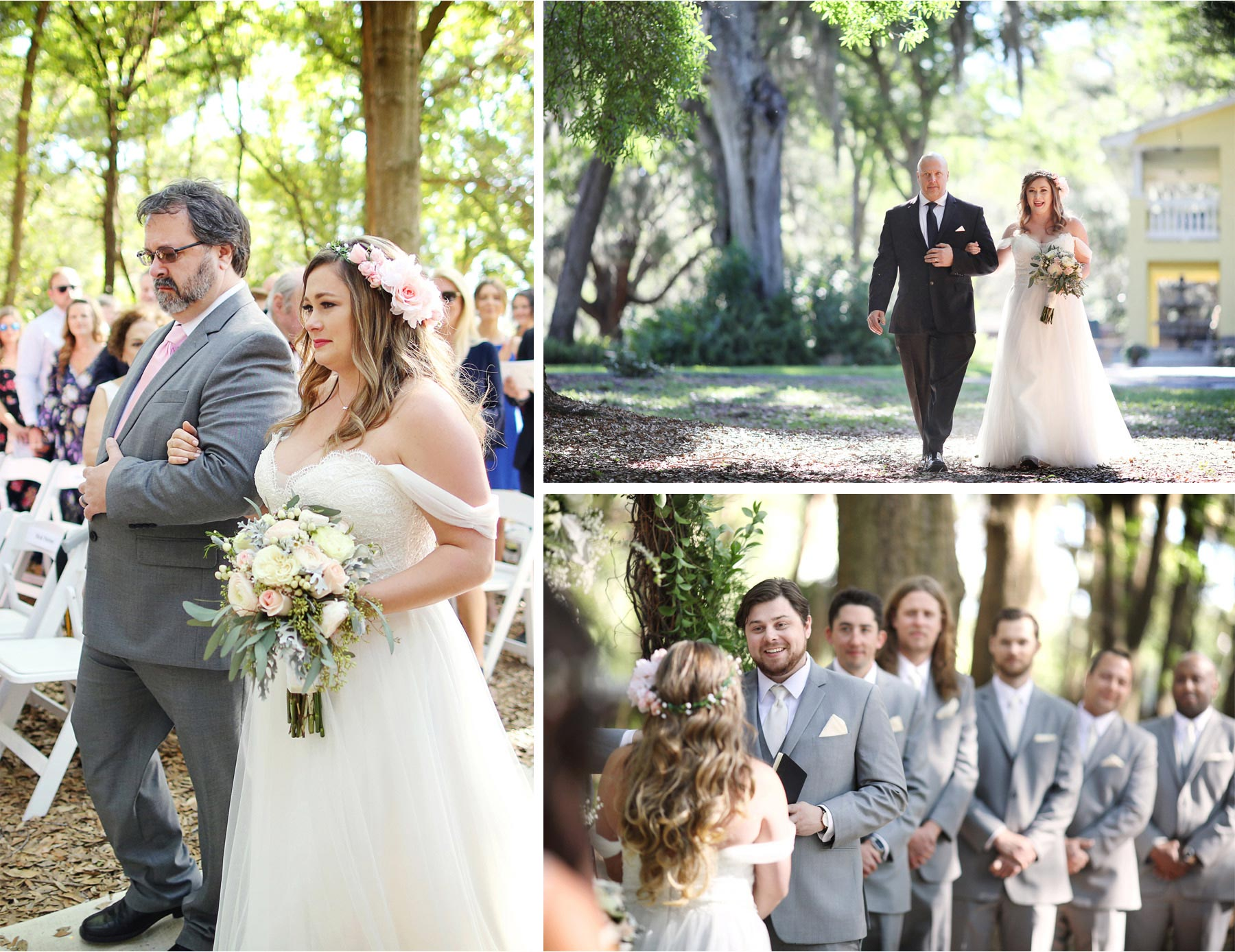 15-Brandon-Florida-Wedding-Photographer-by-Andrew-Vick-Photography-Casa-Lantana-Spring-Ceremony-Bride-Groom-Father-Parents-Processional-Flower-Crown-Kristianna-and-Ben.jpg