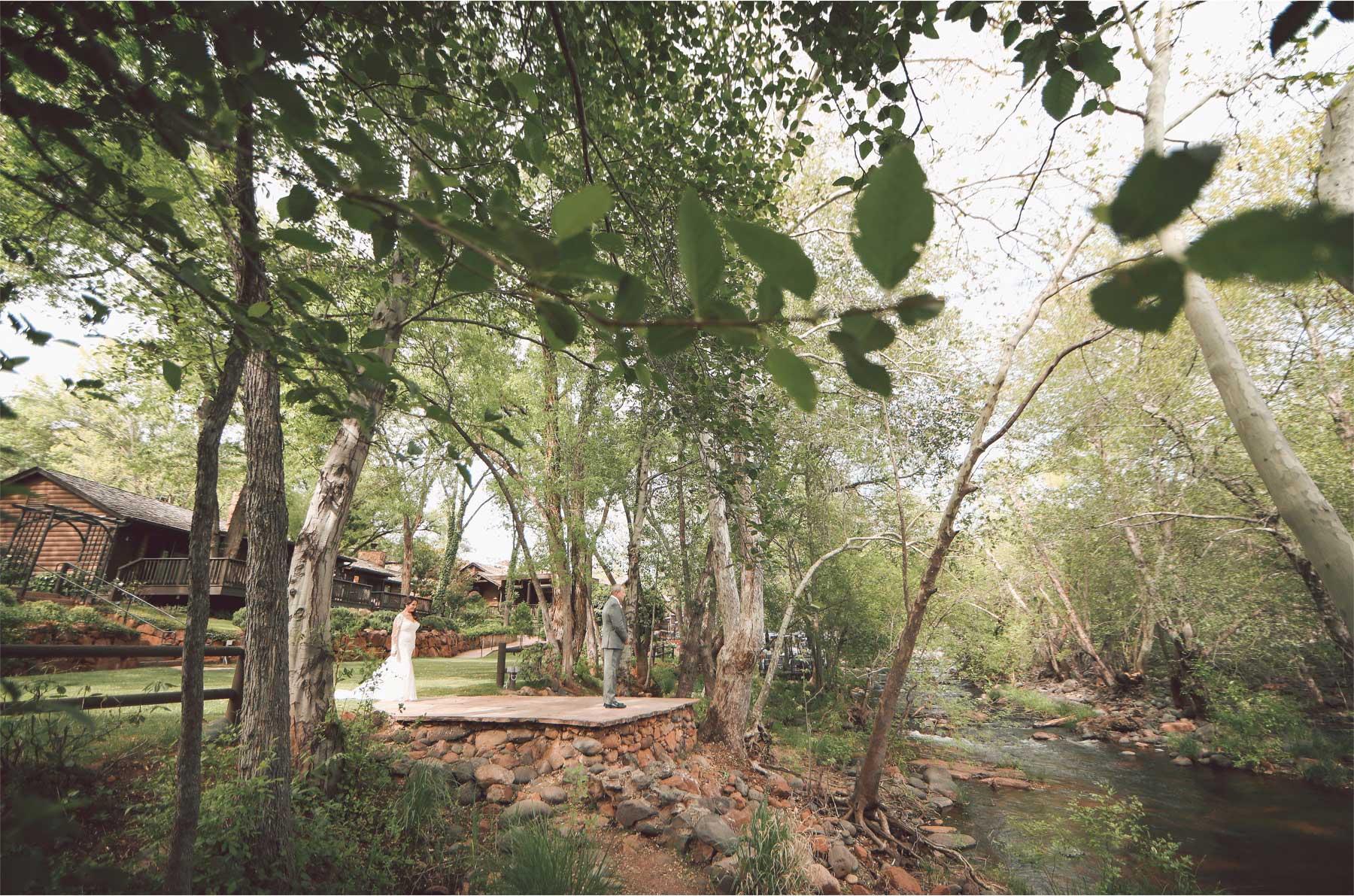 08-Sedona-Arizona-Wedding-Photographer-by-Andrew-Vick-Photography-Spring--LAuberge-de-Sedona-Resort-First-Meeting-Look-Bride-Groom-Creek-Vintage-Barbara-and-Mike.jpg