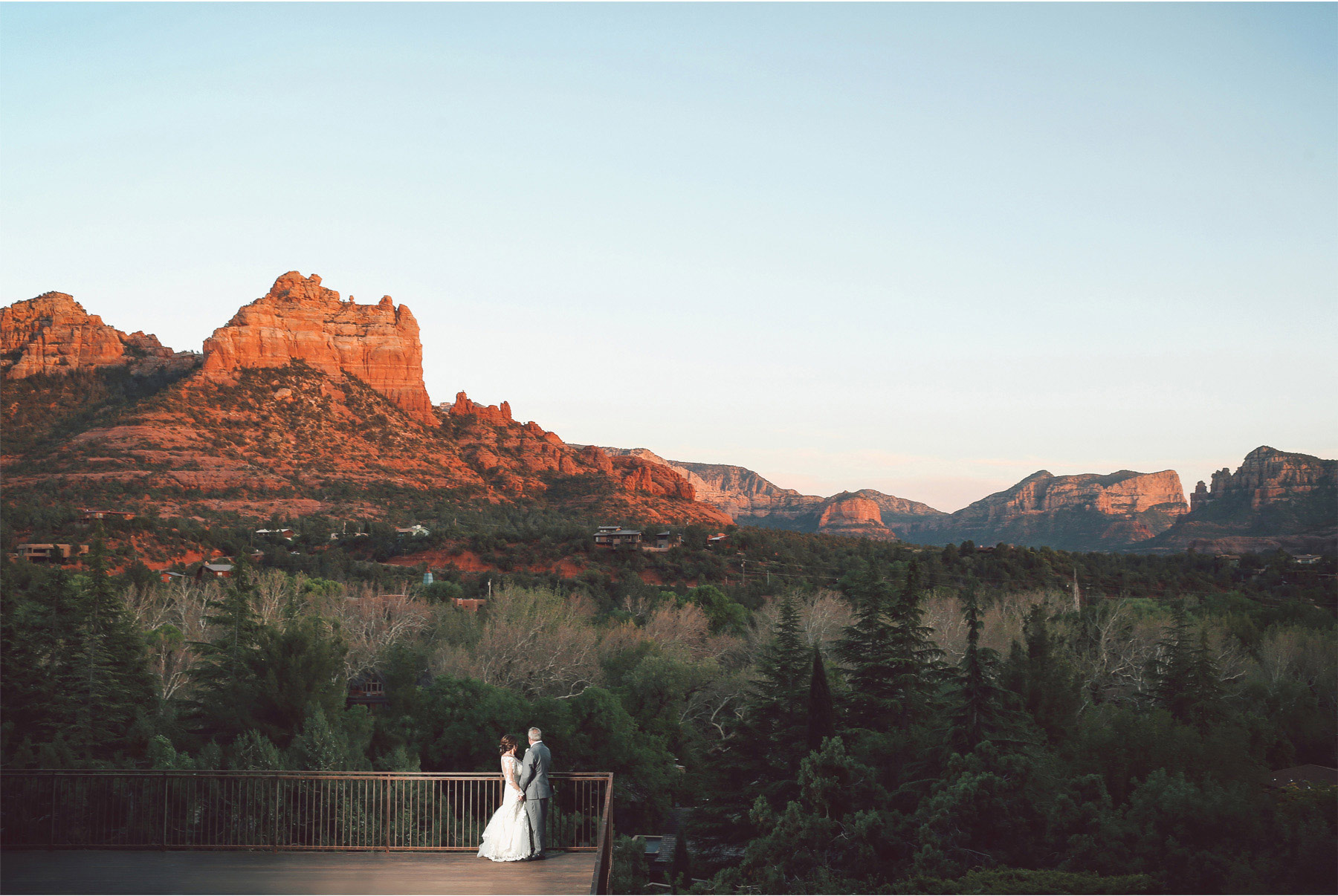 23-Sedona-Arizona-Wedding-Photographer-by-Andrew-Vick-Photography-Spring--LAuberge-de-Sedona-Resort-Reception-Garden-Lawn-Bride-Groom-Deck-Mountains-Embrace-Vintage-Barbara-and-Mike.jpg