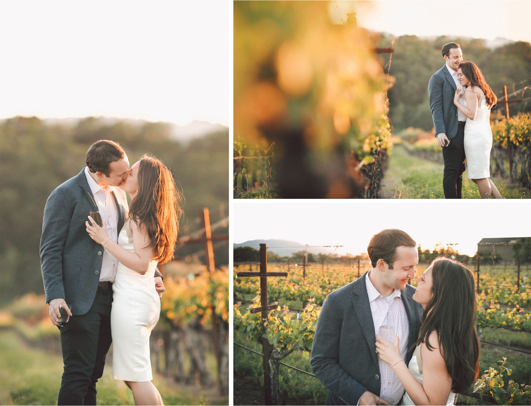 02-Napa-California-Wedding-Photographer-by-Andrew-Vick-Photography-Spring-Destination-Paraduxx-Winery-Vinyard-Rehearsal-Bride-Groom-Kiss-Wine-Embrace-Vintage-Alex-and-Roger.jpg