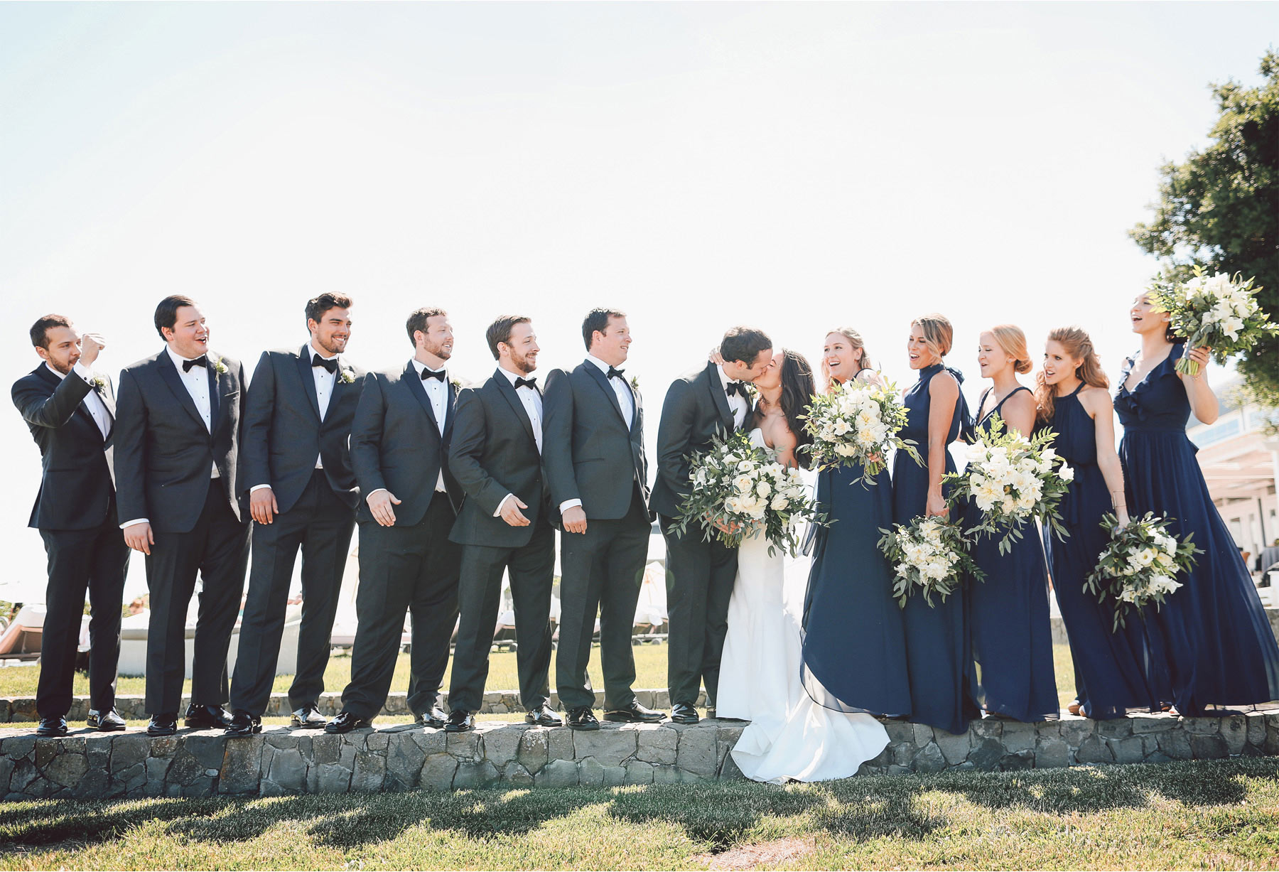 12-Napa-California-Wedding-Photographer-by-Andrew-Vick-Photography-Spring-Destination-Carneros-Resort-and-Spa-Bride-Groom-Bridesmaids-Groomsmen-Bridal-Party-Flowers-Kiss-Vintage-Alex-and-Roger.jpg