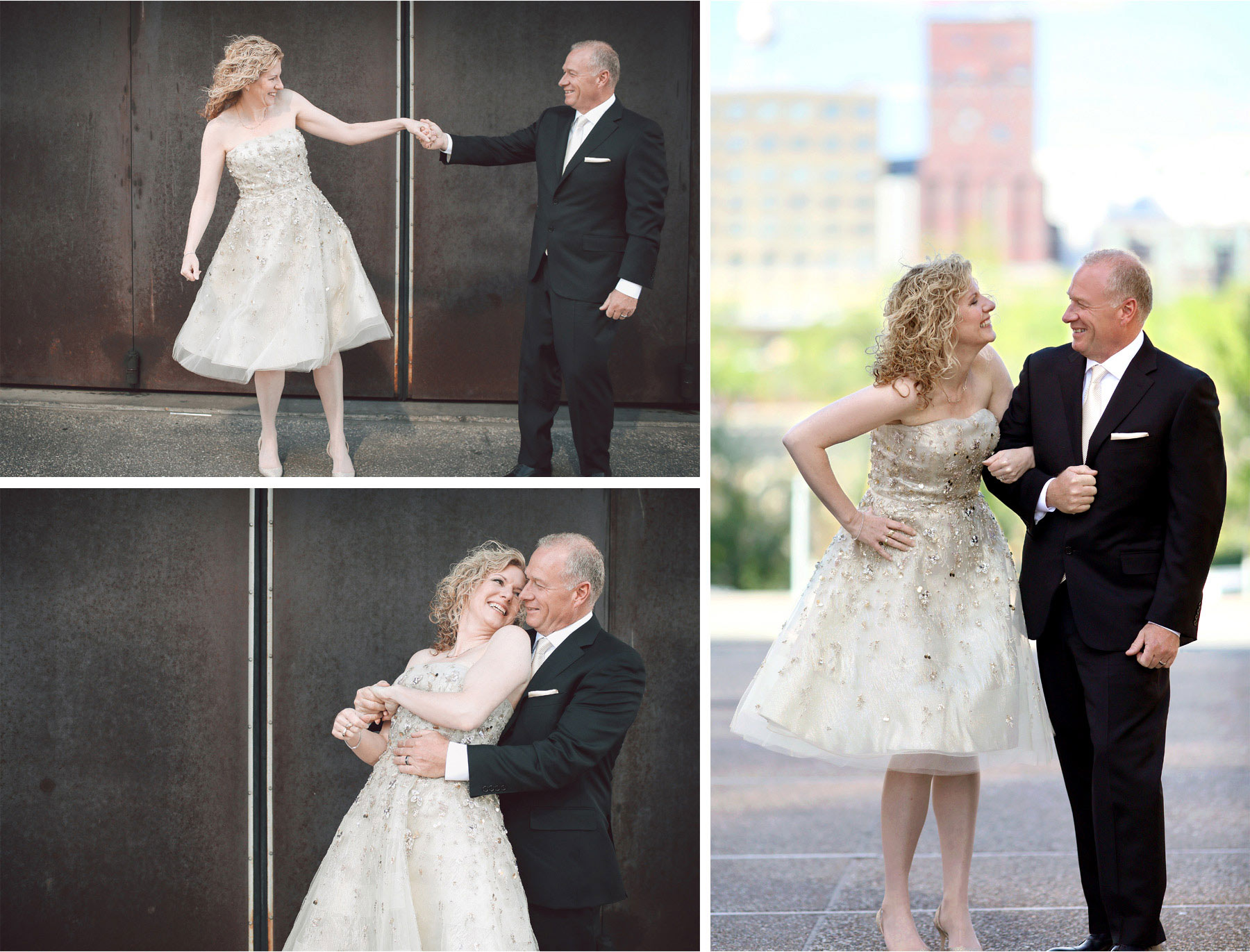 03-Minneapolis-Minnesota-Wedding-Photographer-by-Andrew-Vick-Photography-Spring-Downtown-Bride-Groom-Laughter-Twirl-Spin-Vintage-Dannette-and-Darren.jpg