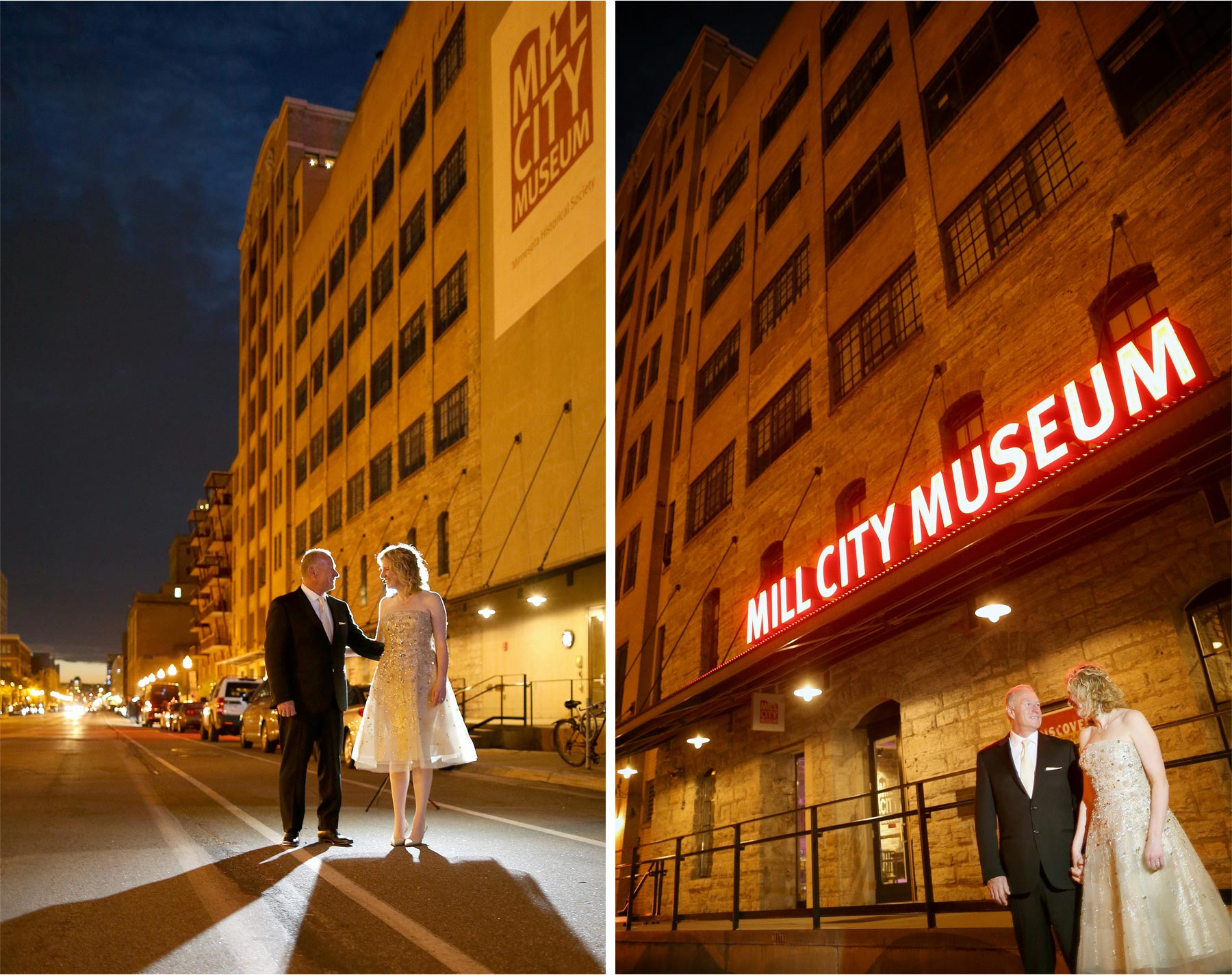 18-Minneapolis-Minnesota-Wedding-Photographer-by-Andrew-Vick-Photography-Spring-Mill-City-Museum-Downtown-Bride-Groom-Sign-Night-Dannette-and-Darren.jpg