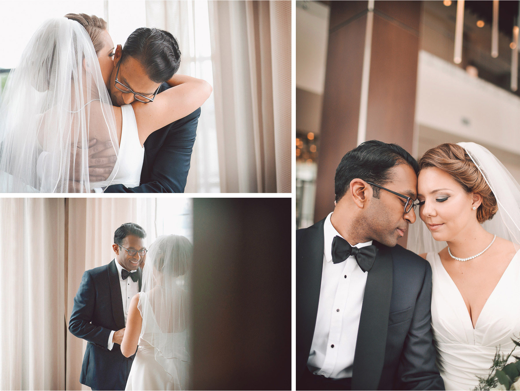 06-Bloomington-Minneapolis-Minnesota-Wedding-Photographer-by-Andrew-Vick-Photography-JW-Marriott-Mall-of-America-MOA-Spring-First-Meeting-Look-Bride-Groom-Hotel-Embrace-Kiss-Vintage-Rachel-and-Venu.jpg