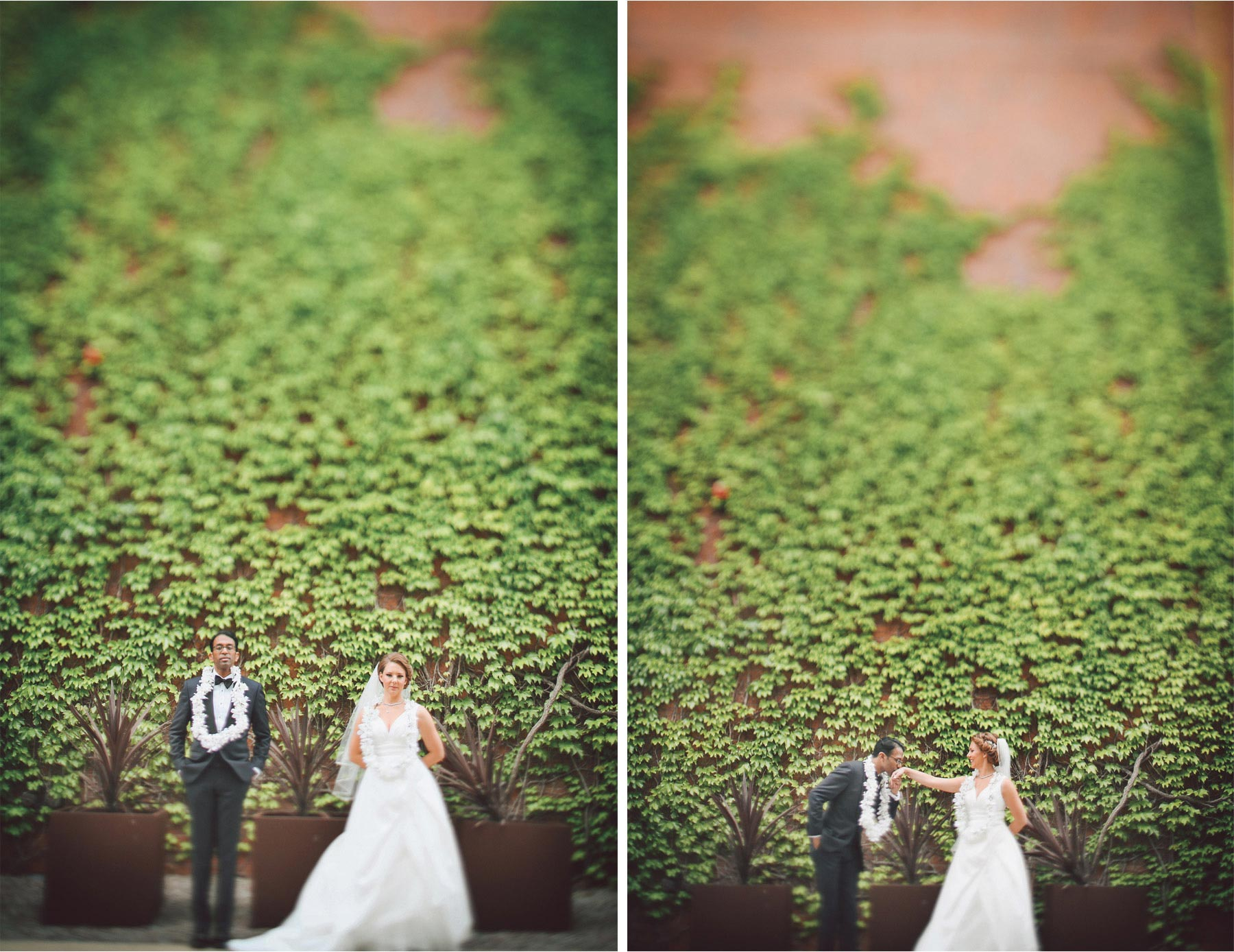 16-Minneapolis-Minnesota-Wedding-Photographer-by-Andrew-Vick-Photography--Spring-Bride-Groom-Kiss-Indian-Floral-Lei-Tilt-Shift-Vintage-Rachel-and-Venu.jpg