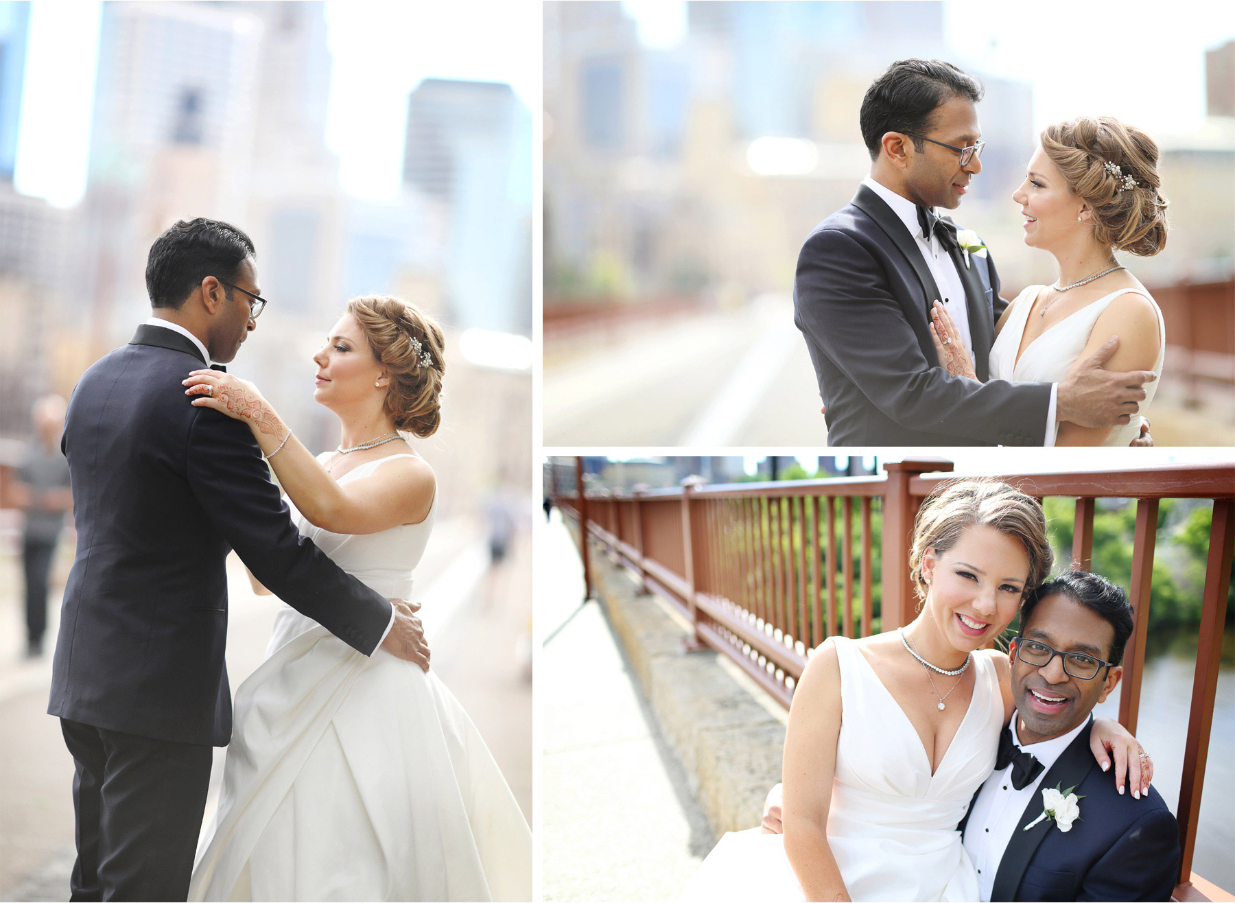 19-Minneapolis-Minnesota-Wedding-Photographer-by-Andrew-Vick-Photography--Spring-Stone-Arch-Bridge-Bride-Groom-Henna-Dance-Embrace-Rachel-and-Venu.jpg