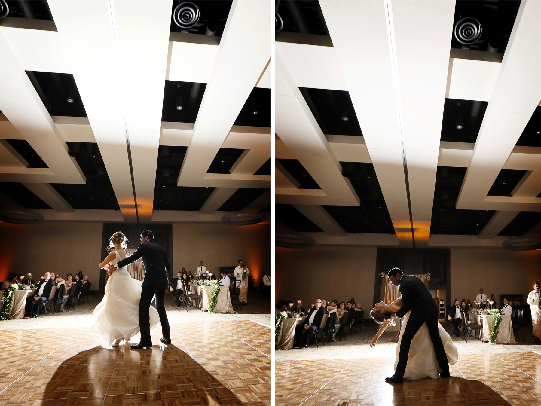 25-Minneapolis-Minnesota-Wedding-Photographer-by-Andrew-Vick-Photography-JW-Marriott-Mall-of-America-MOA-Spring-Bride-Groom-Dance-Twirl-Spin-Dip-Rachel-and-Venu.jpg
