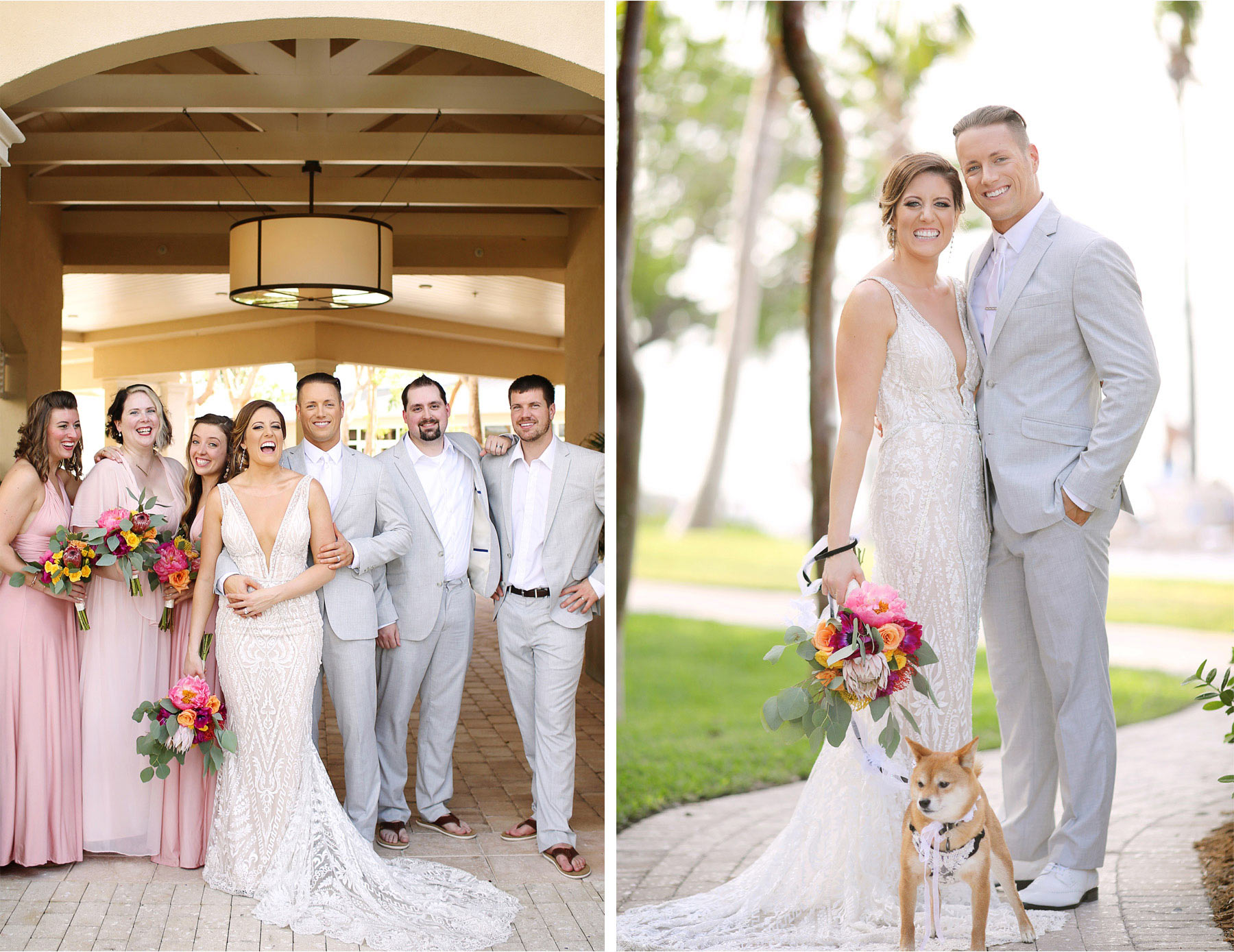 12-Key-Largo-Florida-Keys-Wedding-Photographer-by-Andrew-Vick-Photography-Playa-Largo-Resort-and-Spa-Hotel-Destination-Winter-Bride-Groom-Bridesmaids-Groomsmen-Bridal-Party-Dog-Flowers-Carrie-and-Brian.jpg