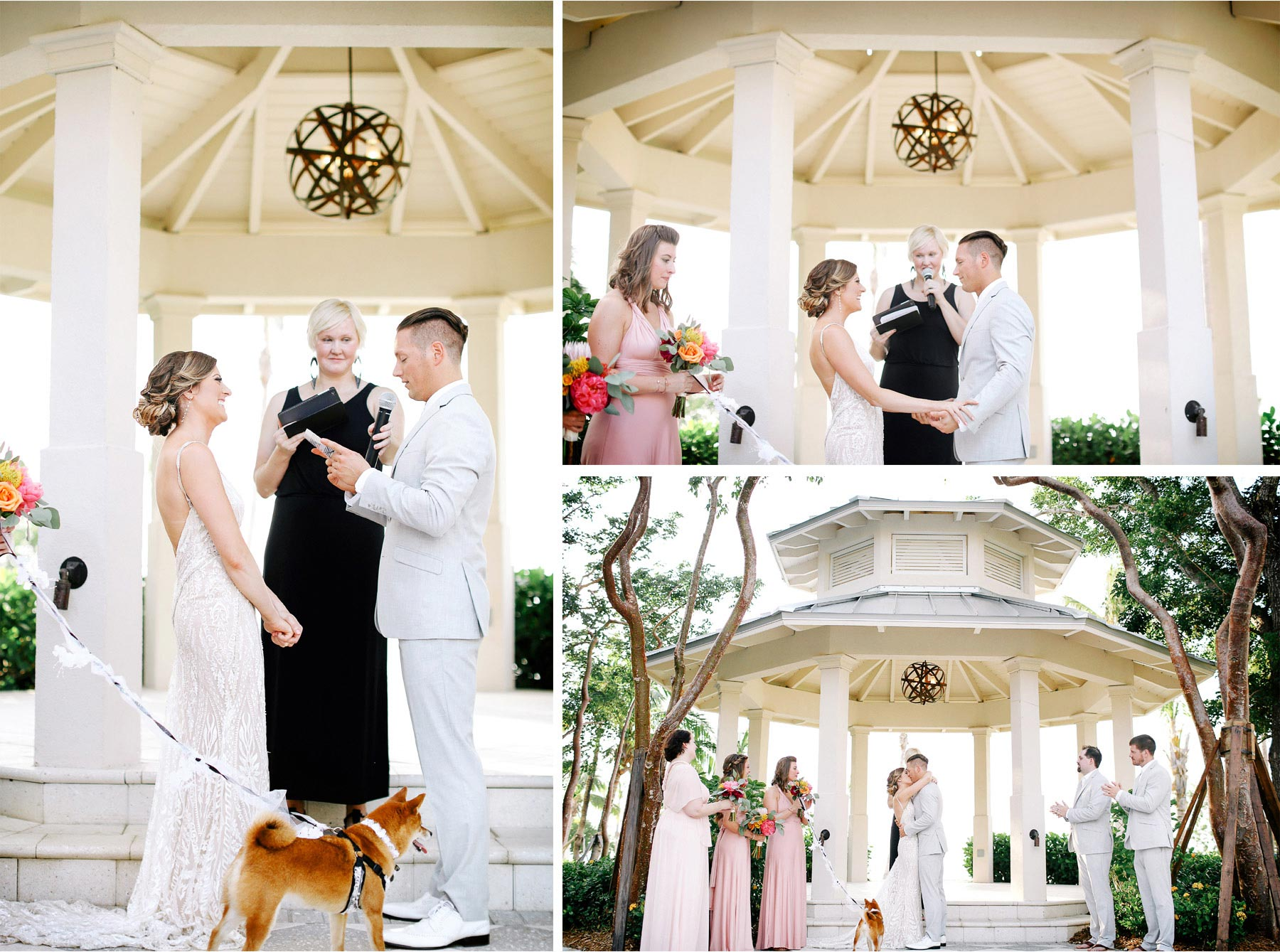 14-Key-Largo-Florida-Keys-Wedding-Photographer-by-Andrew-Vick-Photography-Playa-Largo-Resort-and-Spa-Hotel-Destination-Winter-Ceremony-Bride-Groom-Dog-Vows-Kiss-Carrie-and-Brian.jpg