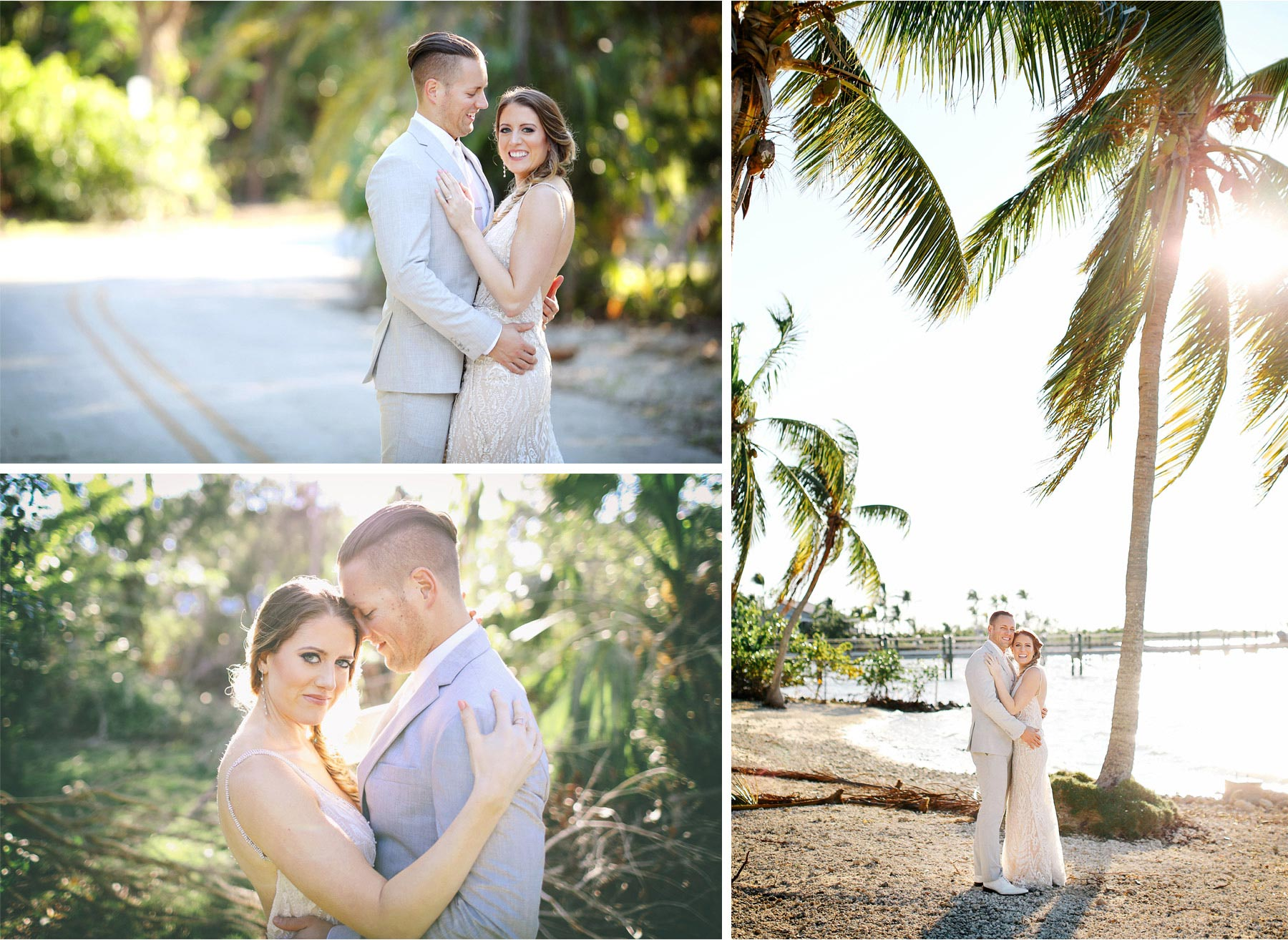 21-Key-Largo-Florida-Keys-Wedding-Photographer-by-Andrew-Vick-Photography-Playa-Largo-Resort-and-Spa-Hotel-Destination-Winter-Wear-It-Again-Bride-Groom-Embrace-Beach-Palm-Trees-Vintage-Carrie-and-Brian.jpg