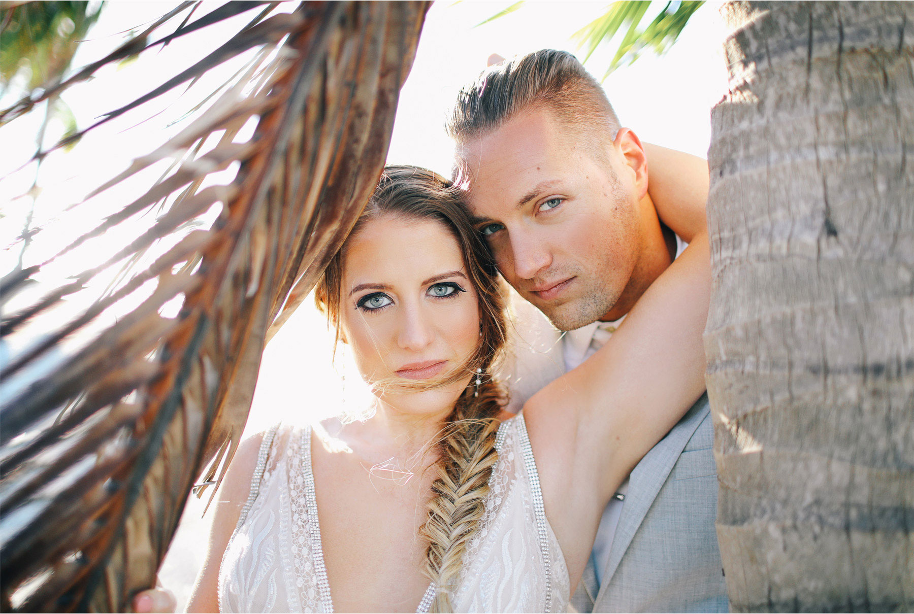 23-Key-Largo-Florida-Keys-Wedding-Photographer-by-Andrew-Vick-Photography-Playa-Largo-Resort-and-Spa-Hotel-Destination-Winter-Wear-It-Again-Bride-Groom-Palm-Trees-Embrace-Carrie-and-Brian.jpg