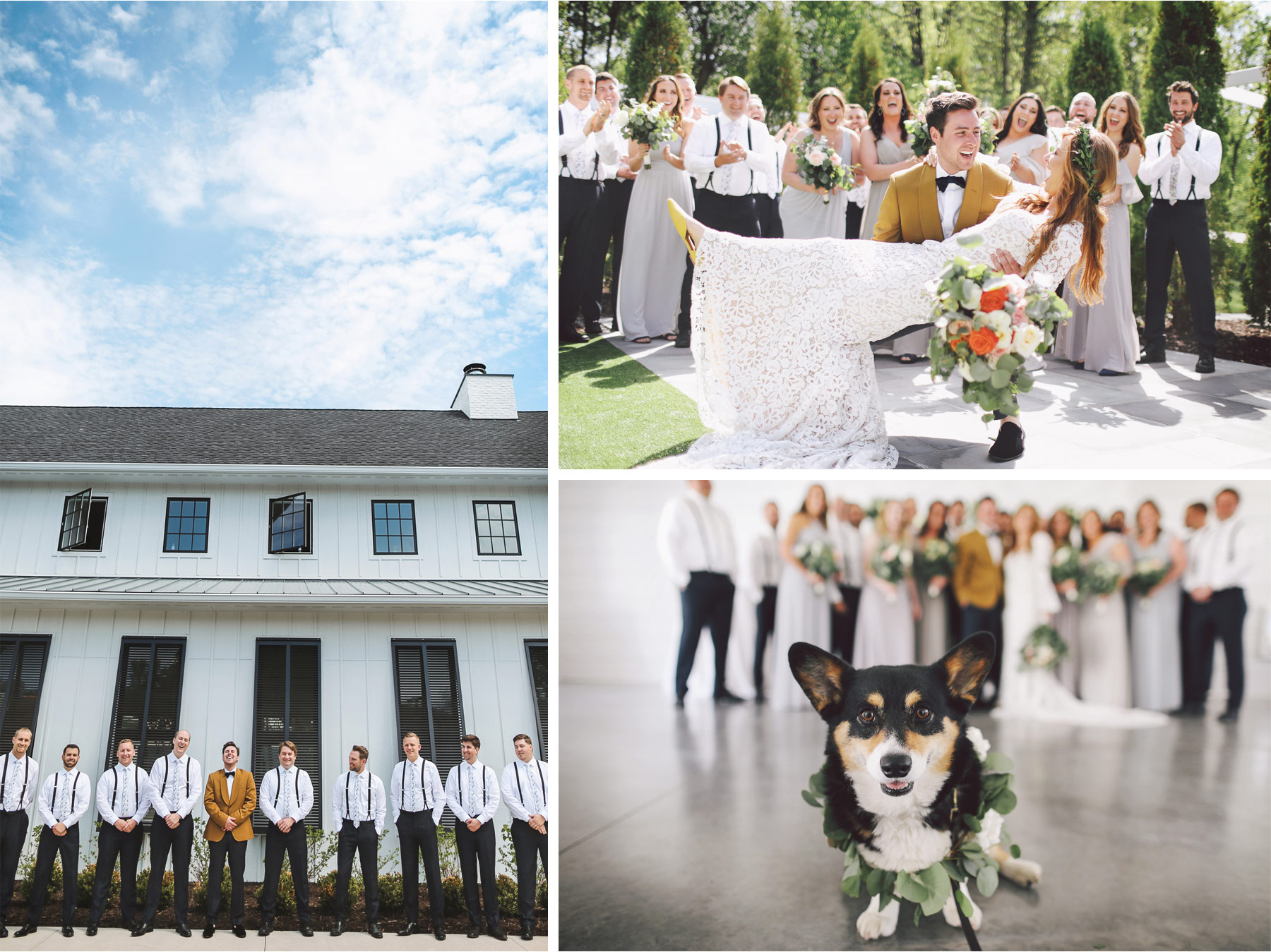 08-Minneapolis-Minnesota-Wedding-Photography-by-Andrew-Vick-Photography-Hutton-House-Outside-Bridesmaids-Groomsmen-Dog-Kelsey-and-Matt.jpg