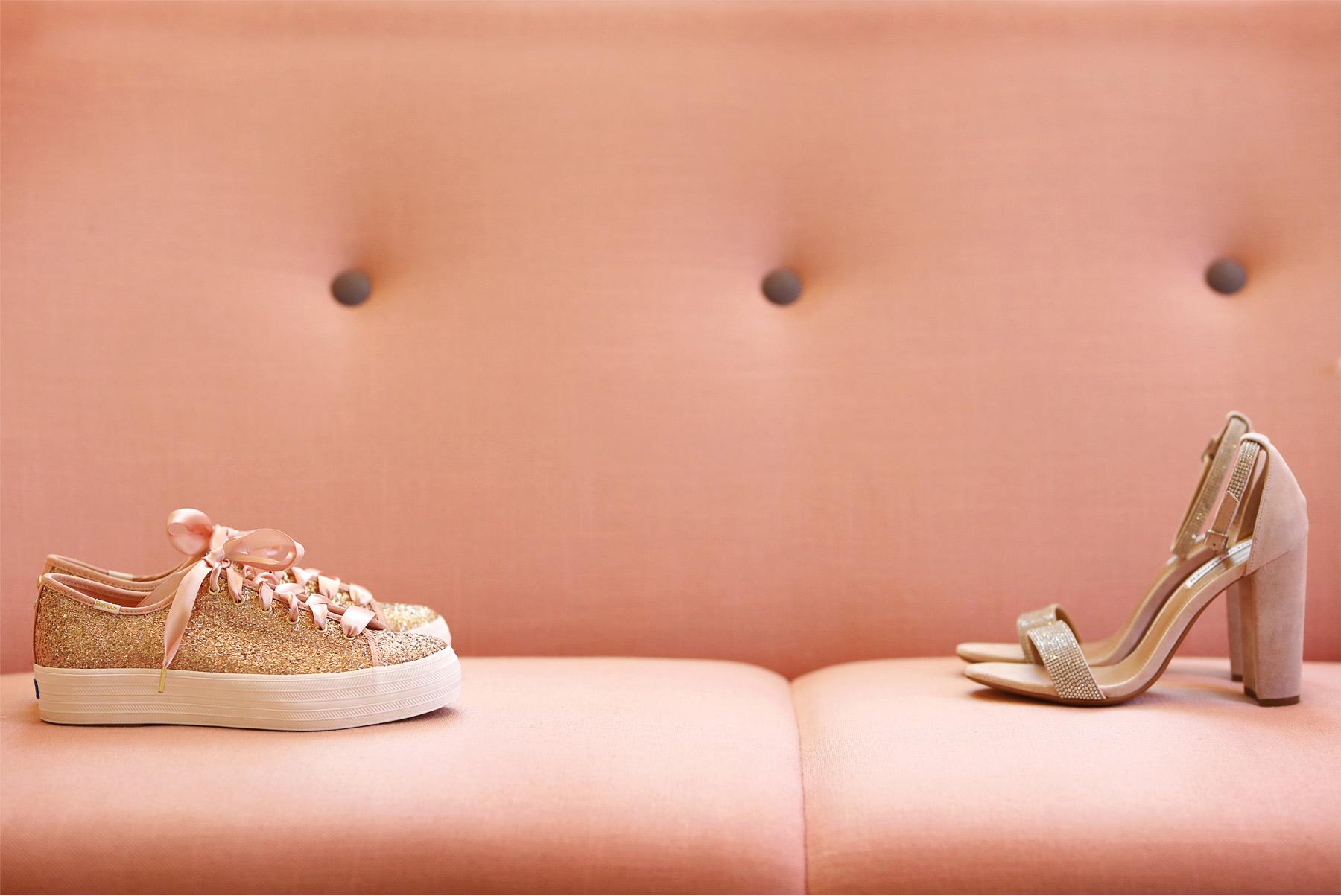 01-Minneapolis-Minnesota-Wedding-Andrew-Vick-Photography-Calhoun-Beach-Club-Shoes-High-Heels-Sneakers-Glitter-Pink-Samantha-and-Ryan.jpg