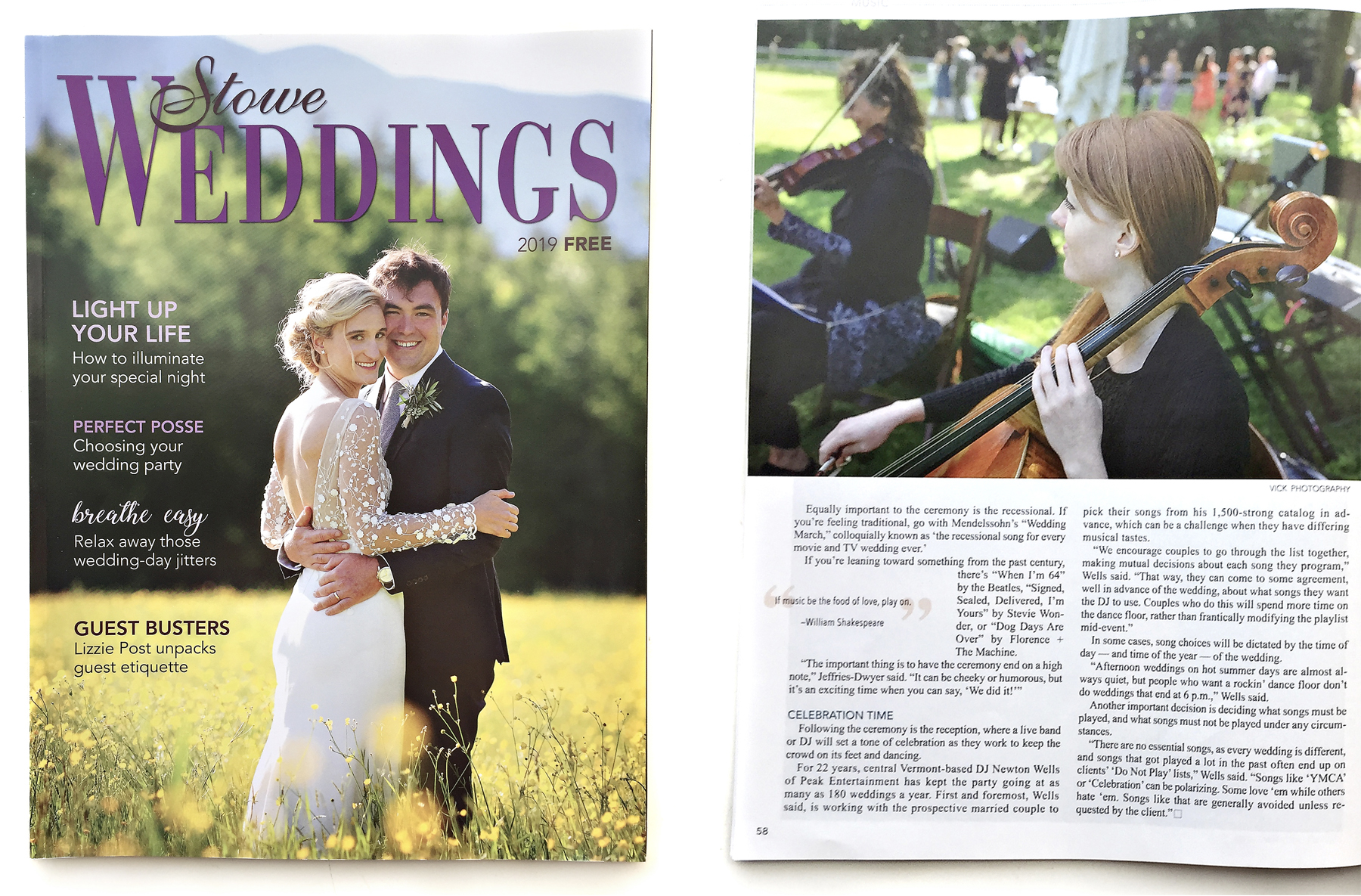 2019 STOWE WEDDINGS MAGAZINE -