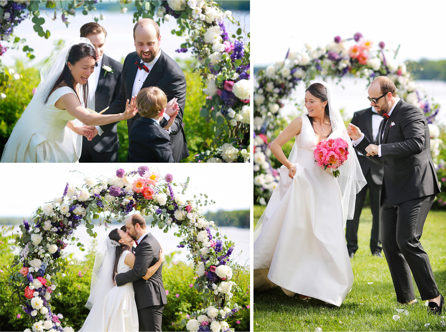 14-Vick-Photography-Wedding-Stouts-Island-Lodge-Wisconsin-Summer-Ceremony-Outdoor-Bride-Groom-Flowers-Kiss-MiJa-and-Lucius.jpg