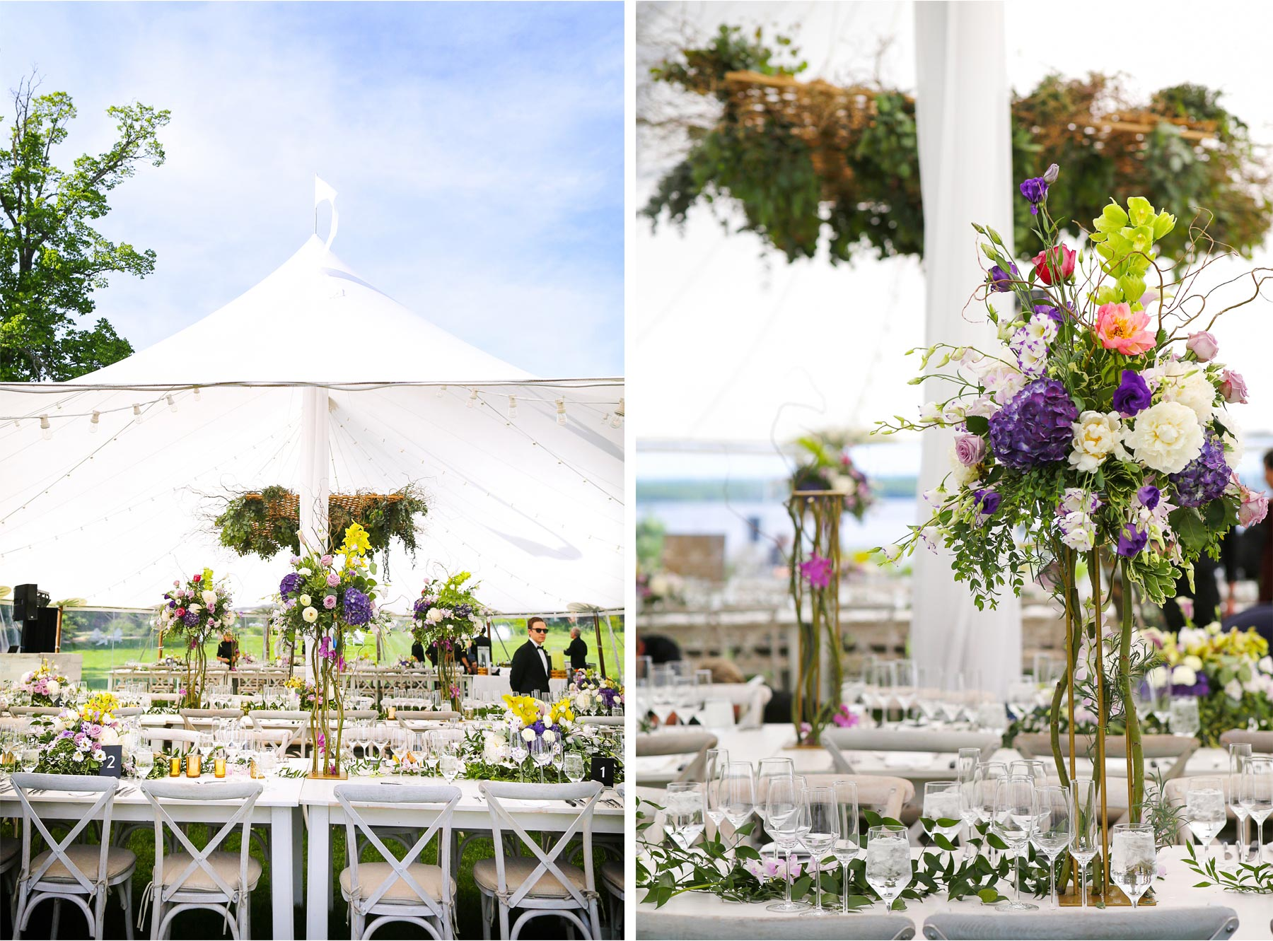 15-Vick-Photography-Wedding-Stouts-Island-Lodge-Wisconsin-Summer-Reception-Outdoor-Flowers-Tables-Tent-MiJa-and-Lucius.jpg