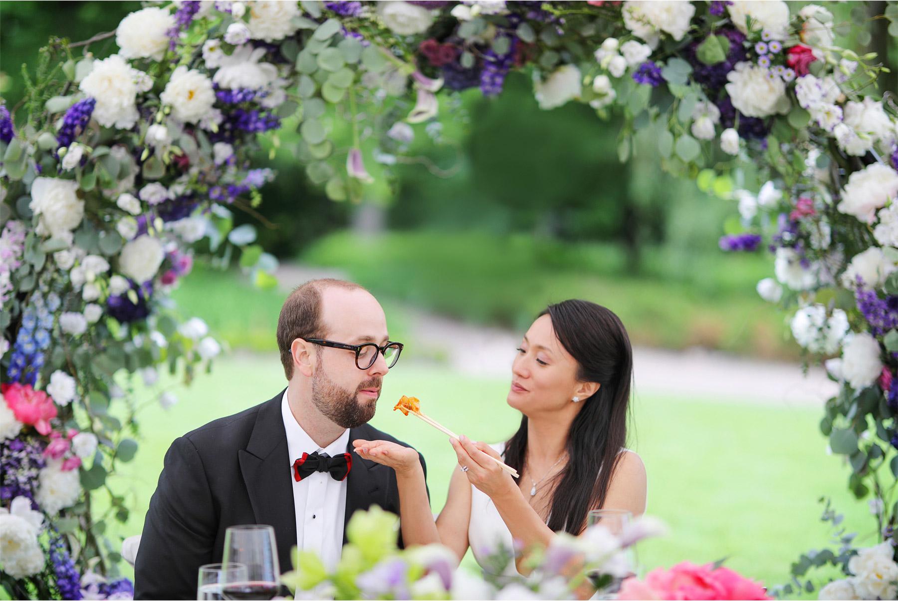 19-Vick-Photography-Wedding-Stouts-Island-Lodge-Wisconsin-Summer-Reception-Outdoor-Food-Bride-Groom-MiJa-and-Lucius.jpg