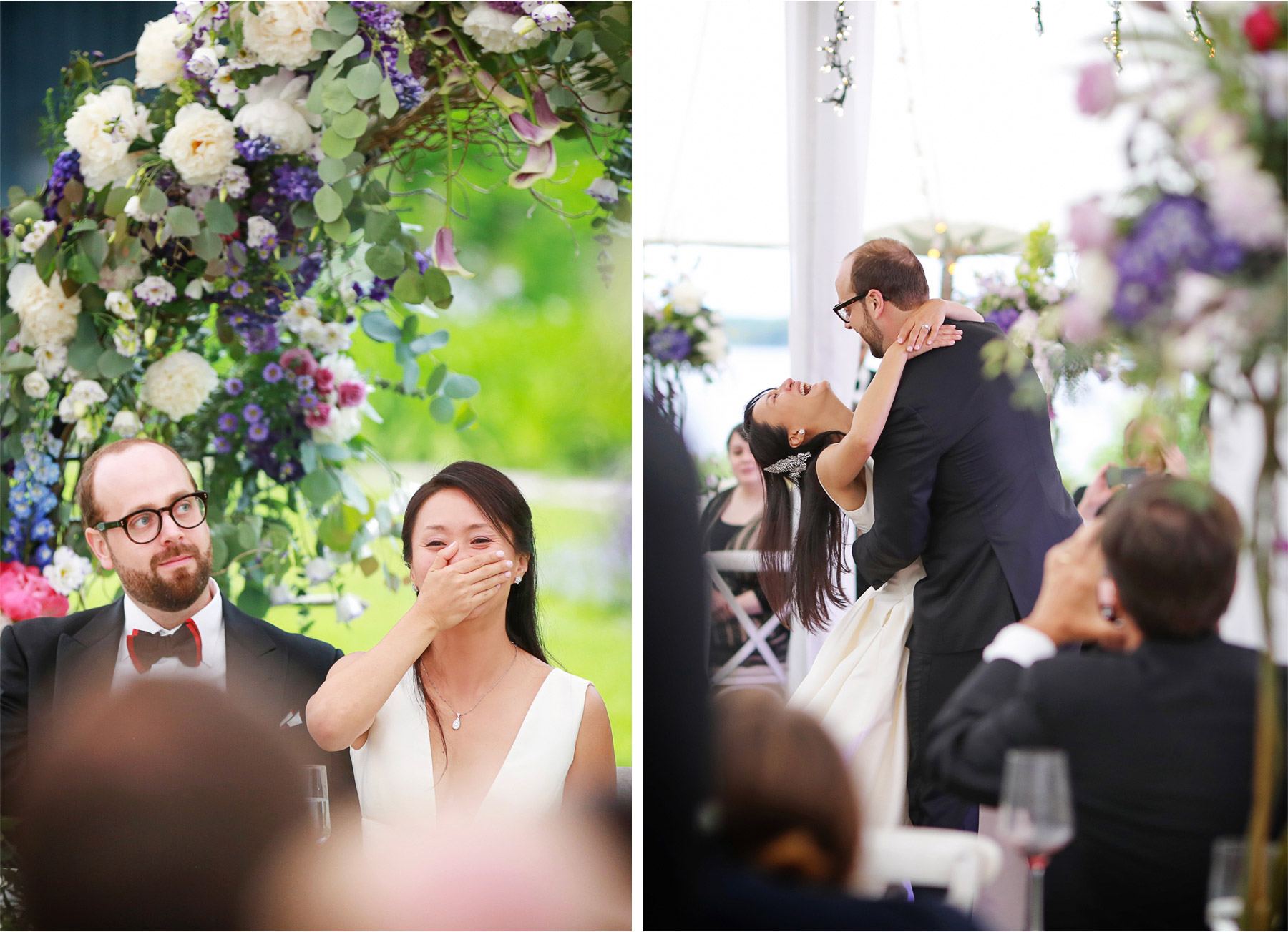 22-Vick-Photography-Wedding-Stouts-Island-Lodge-Wisconsin-Summer-Reception-Outdoor-Laughing-Bride-First-Dance-MiJa-and-Lucius.jpg