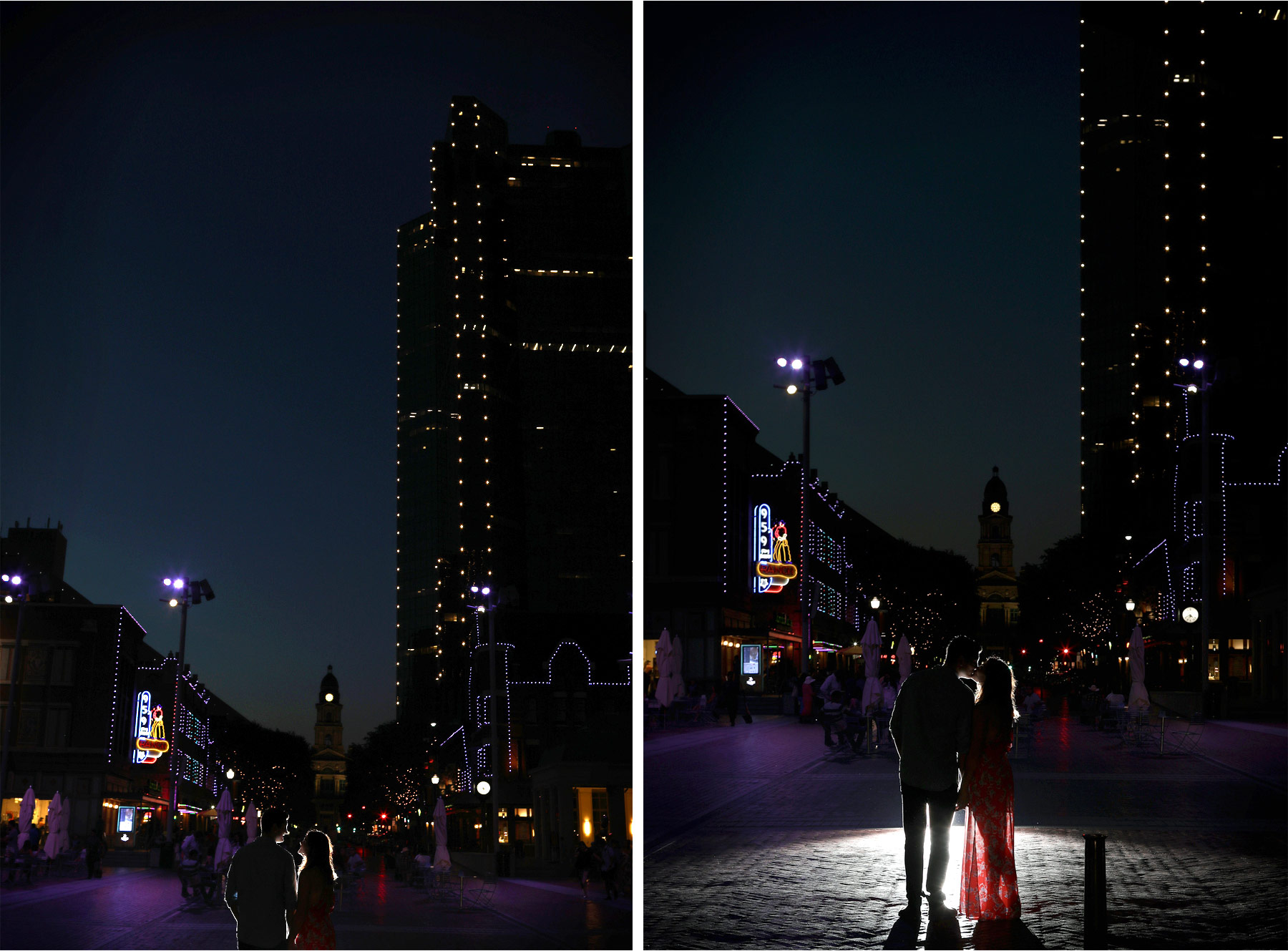 14-Fly-to-Me-Destination-Engagement-Session-Vick-Photography-Fort-Worth-Texas-Couple-Night-Skyline-City-Lights-Downtown-Maggie-and-Matt.jpg
