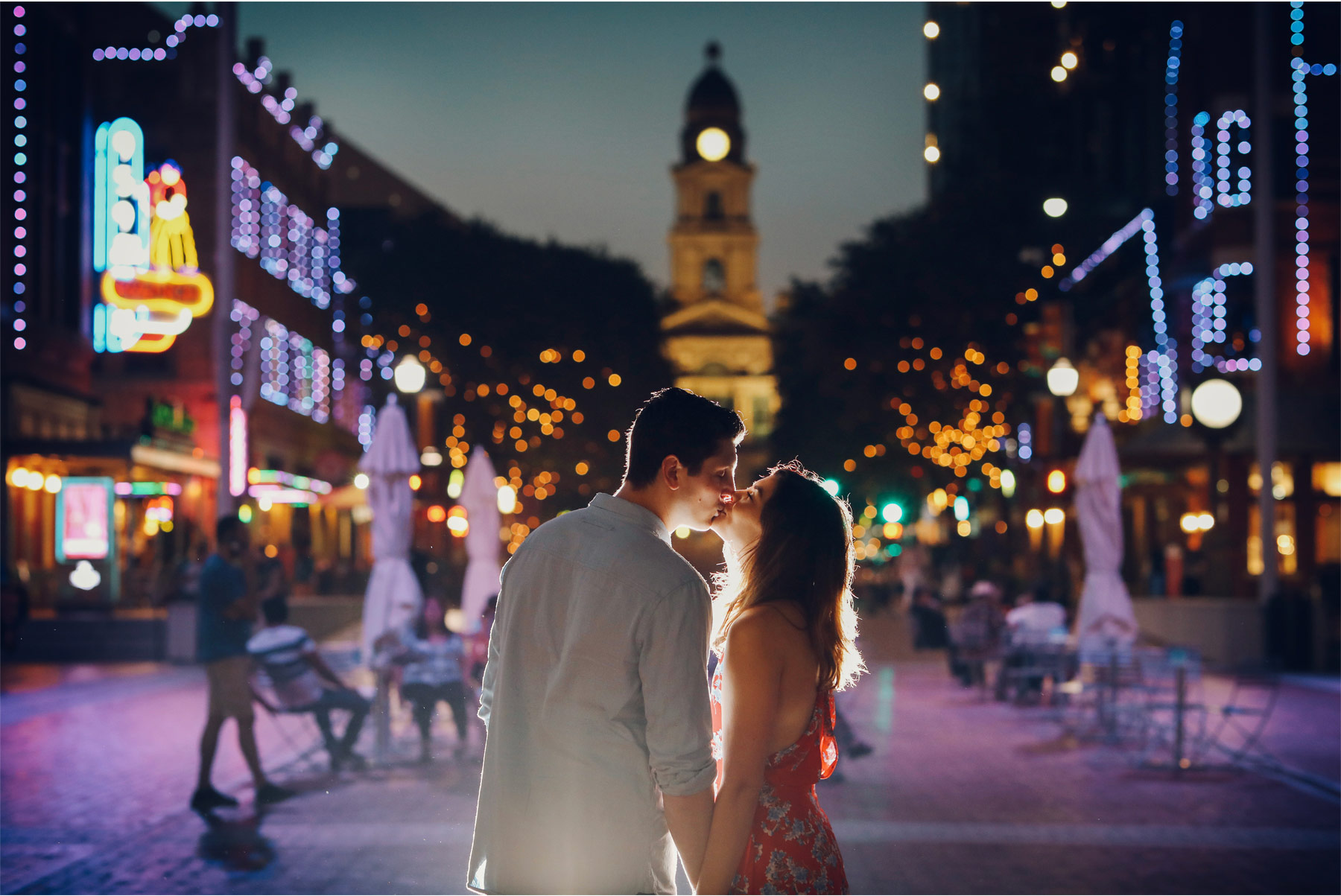 15-Fly-to-Me-Destination-Engagement-Session-Vick-Photography-Fort-Worth-Texas-Couple-Night-Skyline-City-Lights-Downtown-Maggie-and-Matt.jpg