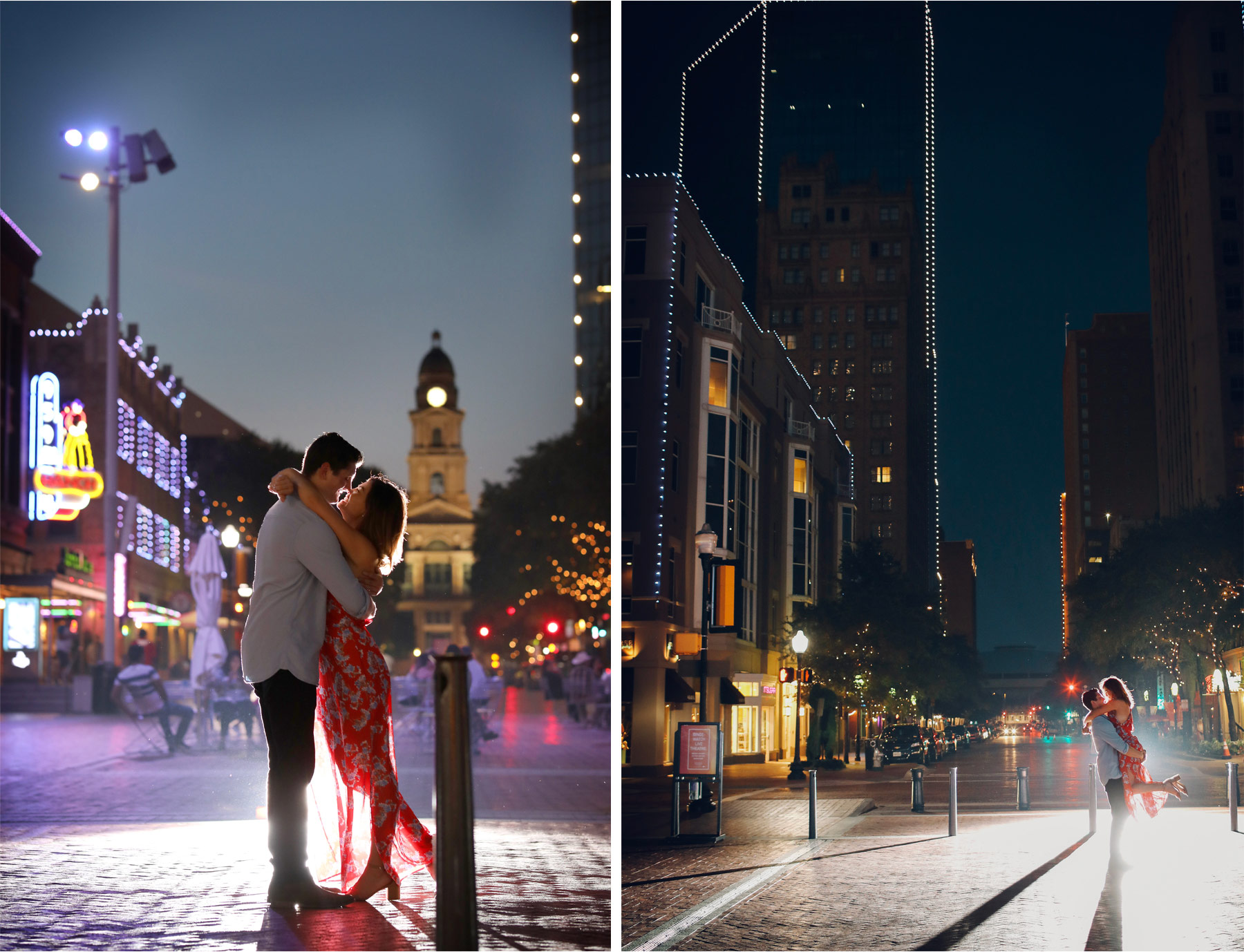 16-Fly-to-Me-Destination-Engagement-Session-Vick-Photography-Fort-Worth-Texas-Couple-Night-Skyline-City-Lights-Downtown-Maggie-and-Matt.jpg