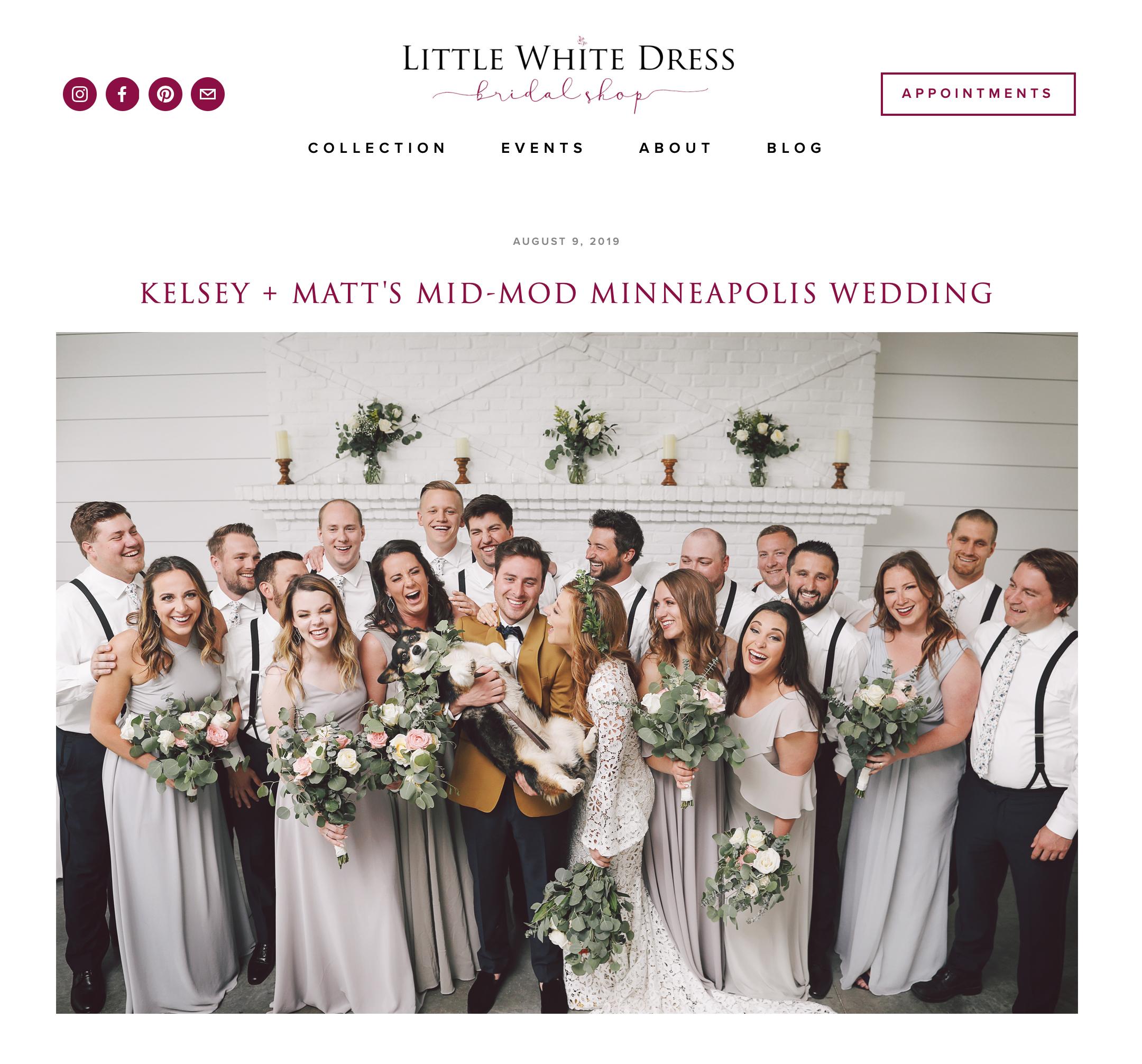 LITTLE WHITE DRESS ONLINE FEATURE -