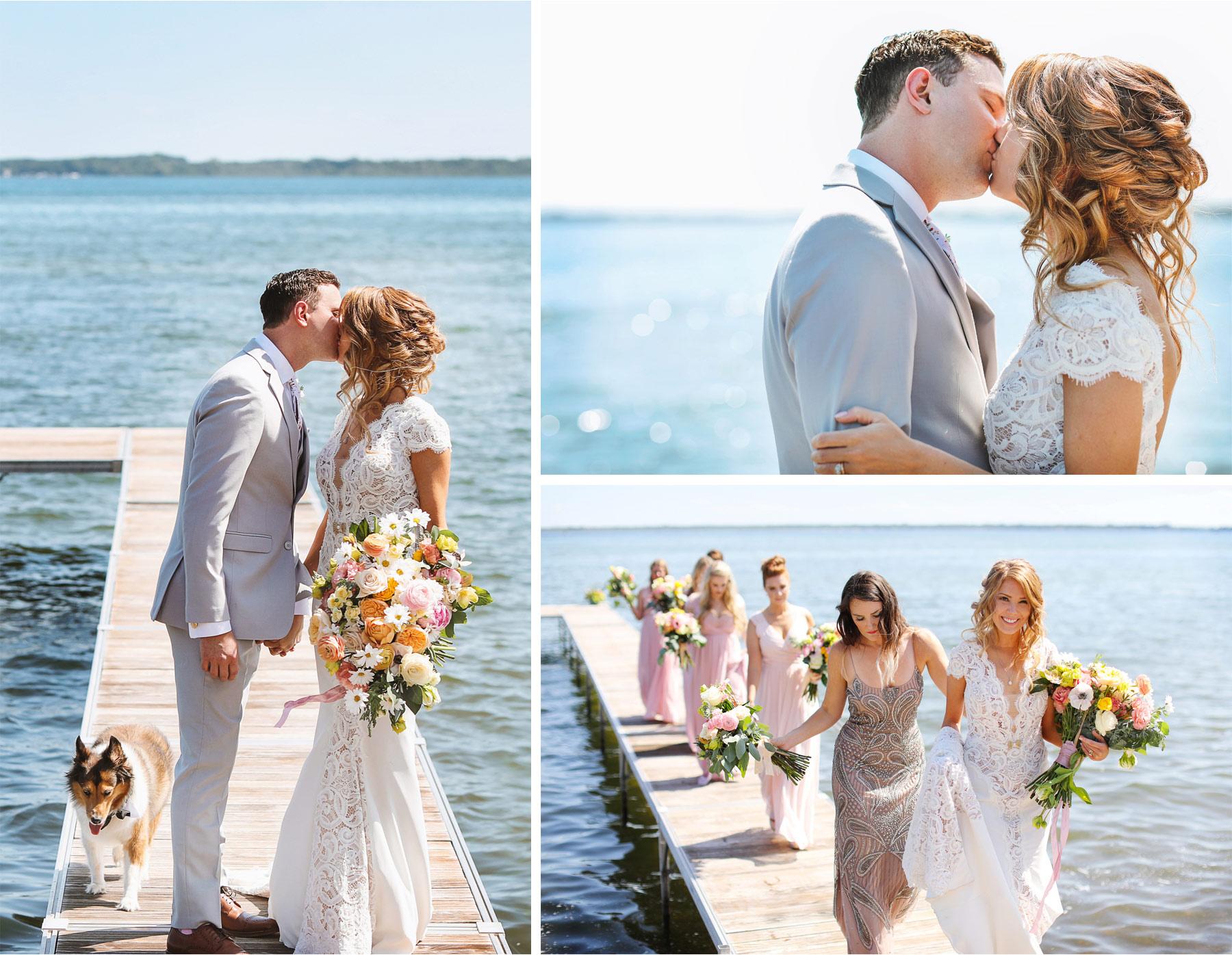 07-Vick-Photography-Wedding-Ottertail-Minnesota-Alice-in-Wonderland-Theme-First-Look-Bride-Groom-Lake-Dock-Bridesmaids-Tess-and-Greg.jpg