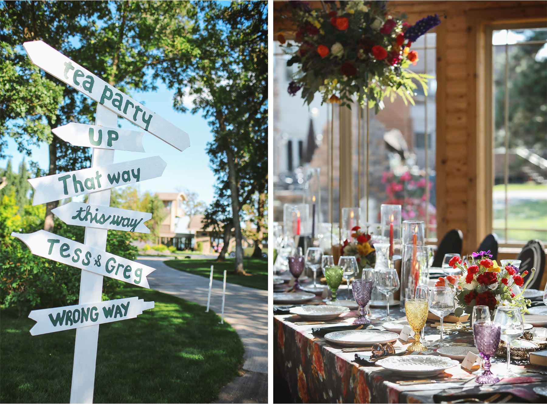 17-Vick-Photography-Wedding-Ottertail-Minnesota-Alice-in-Wonderland-Theme-Reception-Table-Decor-Sign-Tess-and-Greg.jpg