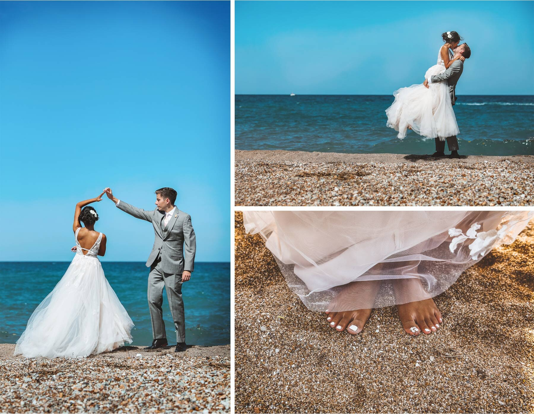 11-Wedding-by-Andrew-Vick-Photography-Chicago-Illinois-Groom-Bride-Shore-Beach-Lake-Michigan-Sand-Feet-Ashley-and-Nicholas.jpg