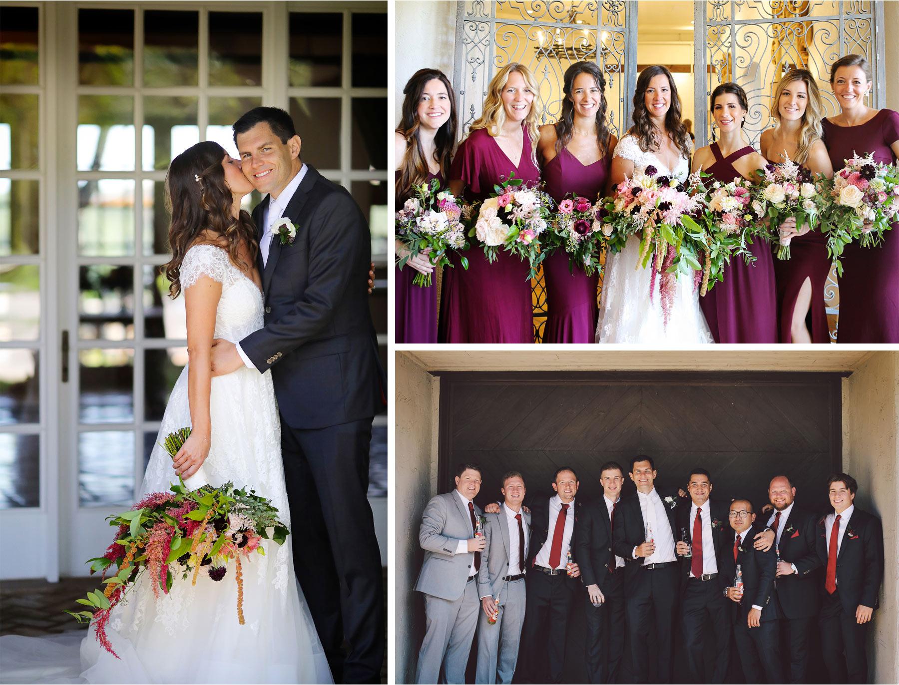 09-Weding-by-Vick-Photography-Minneapolis-Minnesota-Bavaria-Downs-Bride-Groom-Kiss-Bridesmaids-Groomsmen-Rebecca-and-Mark.jpg