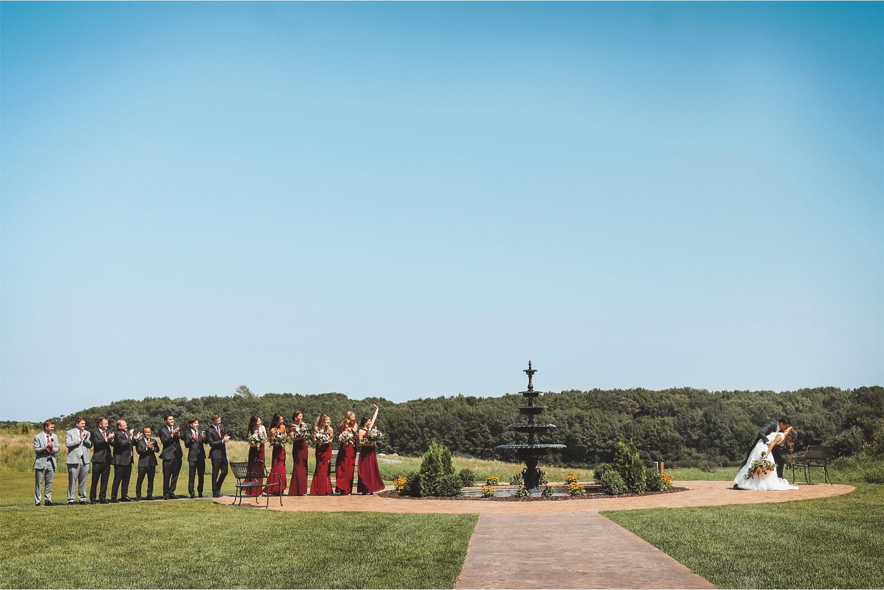 10-Weding-by-Vick-Photography-Minneapolis-Minnesota-Bavaria-Downs-Bride-Groom-Kiss-Bridesmaids-Groomsmen-Kiss-Fountain-Rebecca-and-Mark.jpg
