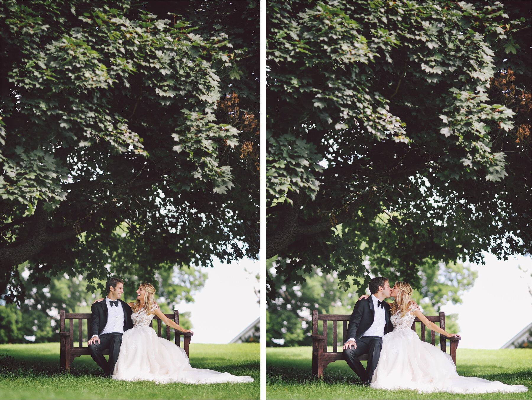 08 Wedding Vick Photography Minneapolis Minnesota Bride Groom Tree Bench Michelle and William.jpg