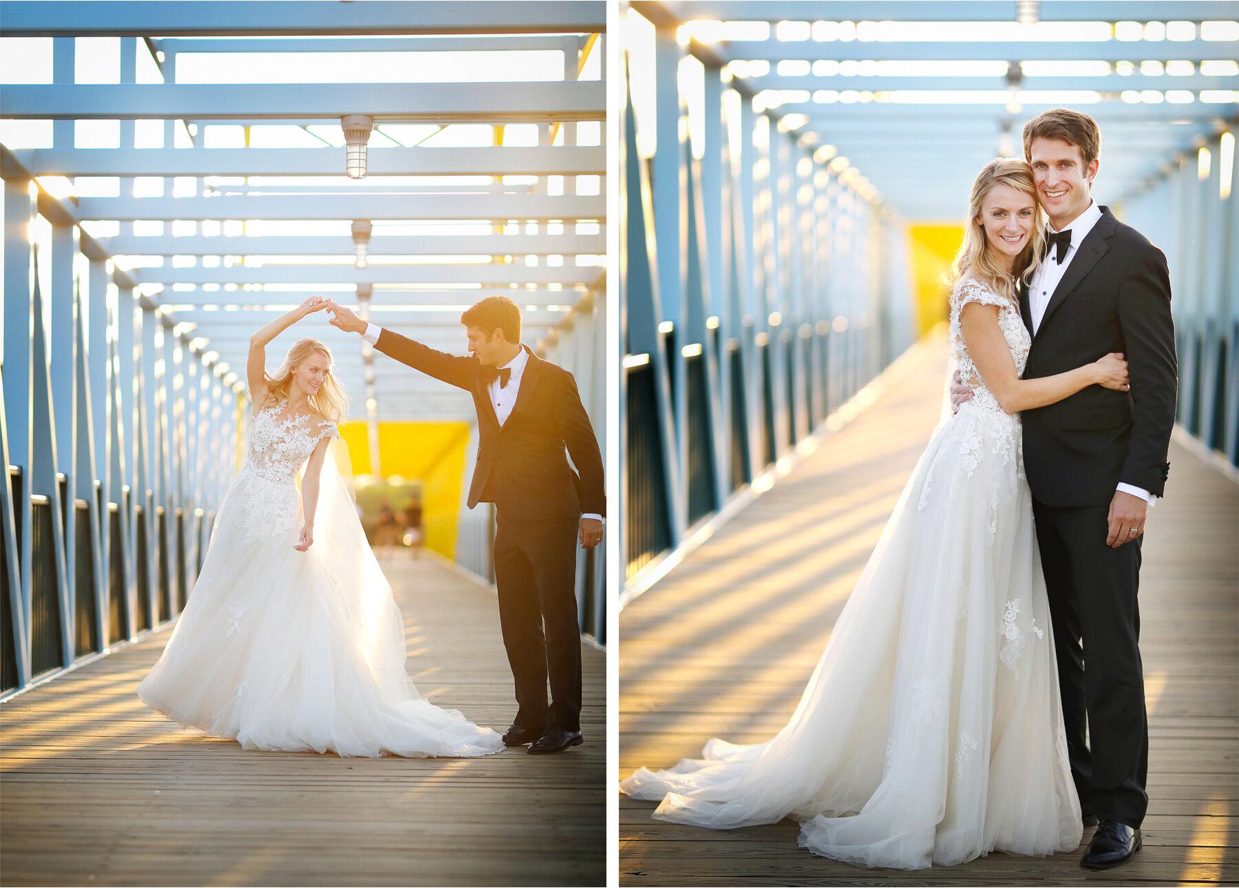 17 Wedding Vick Photography Minneapolis Minnesota Bride Groom Blue Bridge Sunset Michelle and William.jpg