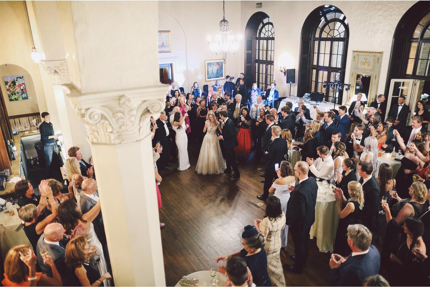 21 Wedding Vick Photography Minneapolis Minnesota Reception Womens Club Toast Crowd Michelle and William.jpg