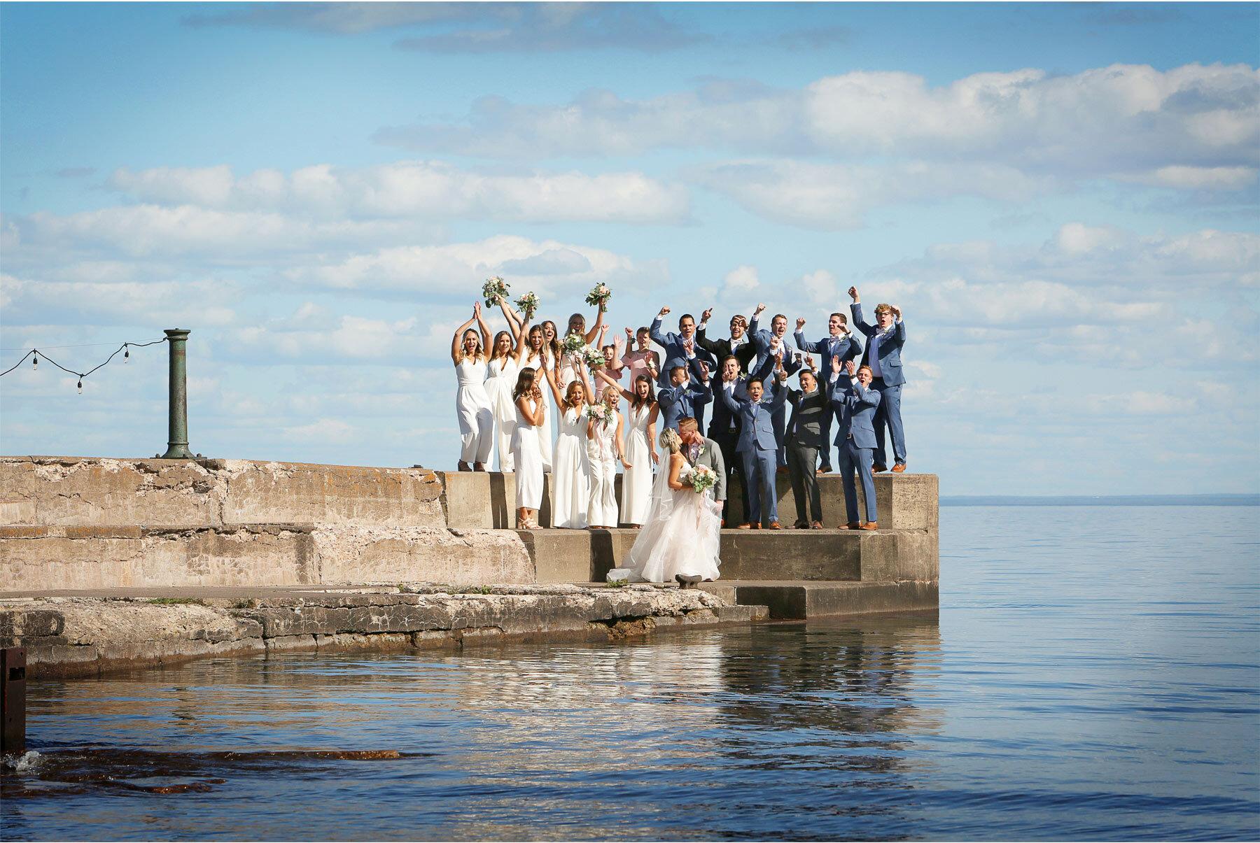 11-Vick-Photography-Wedding-Duluth-Minnesota-Glensheen-Mansion-Groom-Bride-Bridesmaids-Groomsmen-Lake-Superior-Kiss-Catherine-and-John.jpg