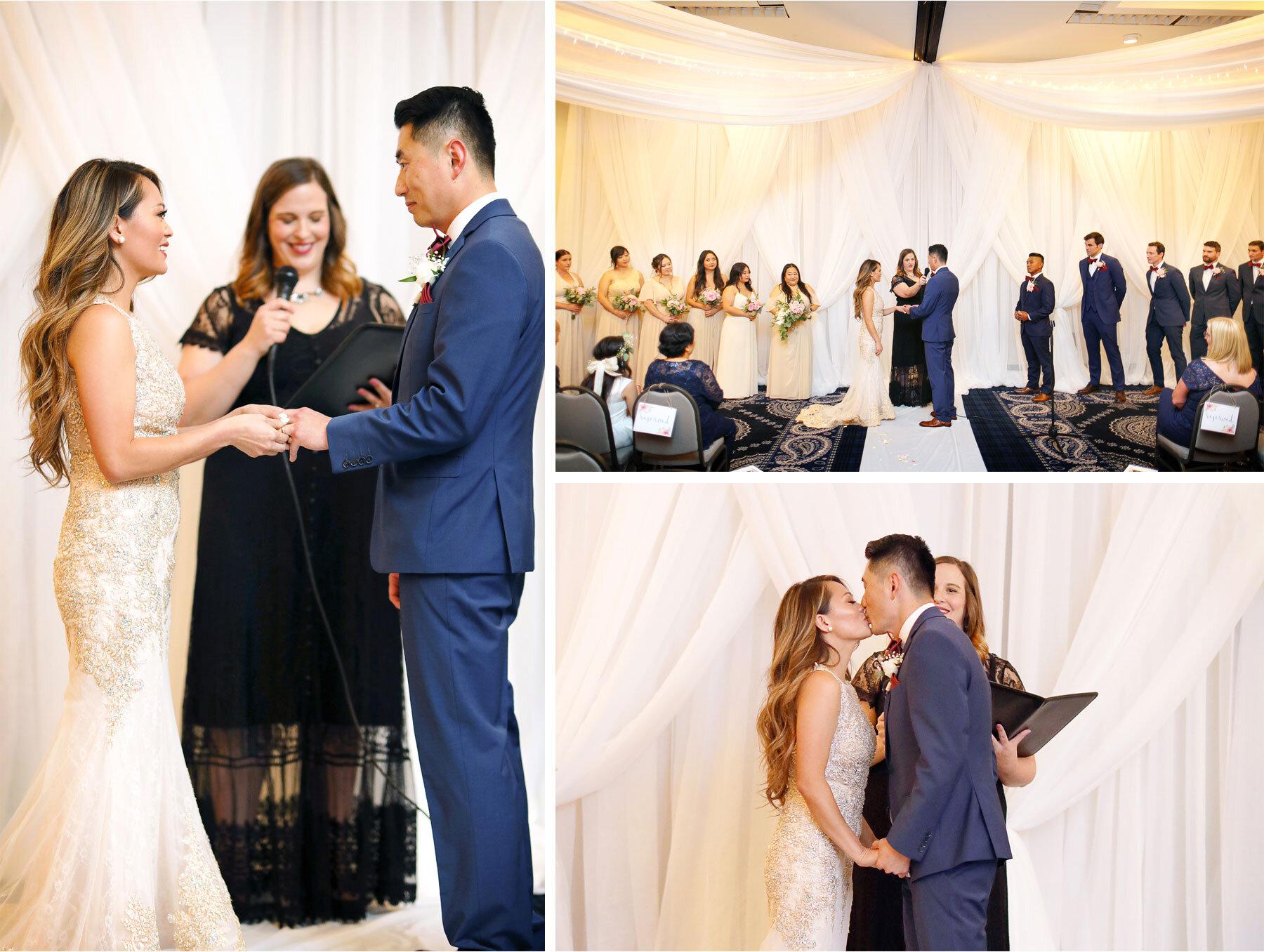 14-Vick-Photography-Minneapolis-Minnesota-The-Graduate-Hotel-Ceremony-Bride-Groom-Kiss-Mai-&-Ross.jpg
