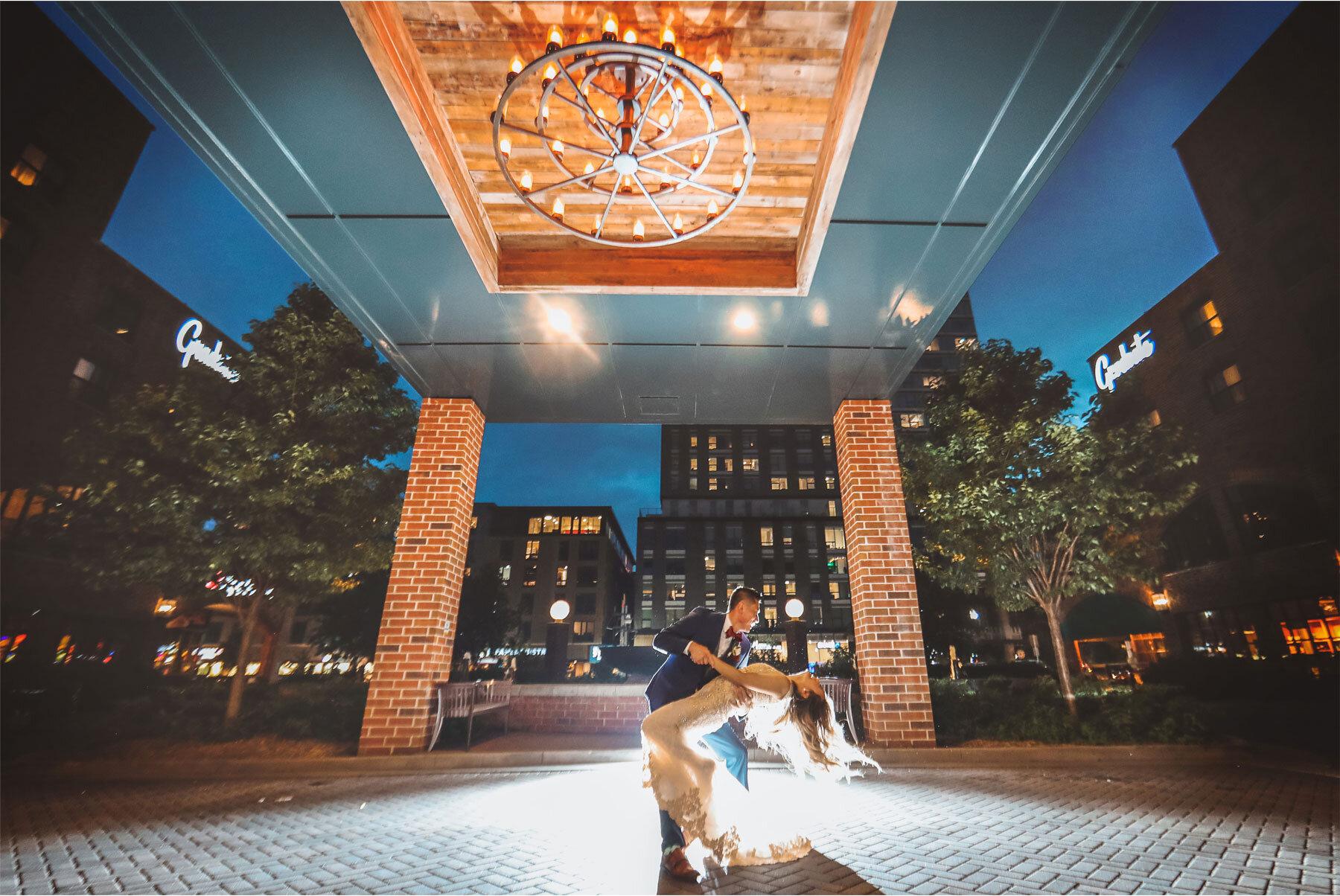 18-Vick-Photography-Minneapolis-Minnesota-The-Graduate-Hotel-Exterior-Night-Bride-Groom-Kiss-Mai-&-Ross.jpg