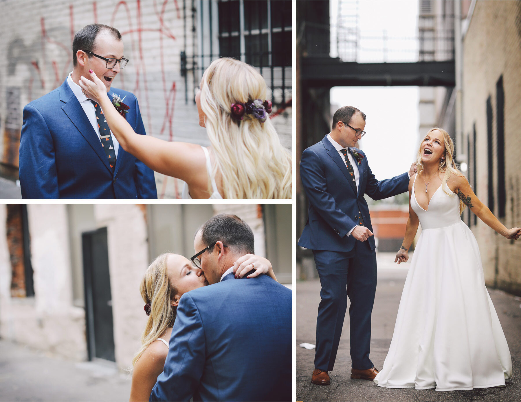 03-Vick-Photography-Wedding-Minneapolis-Minnesota-Downtown-Alley-Groom-First-Look-Danielle-and-Tom.jpg
