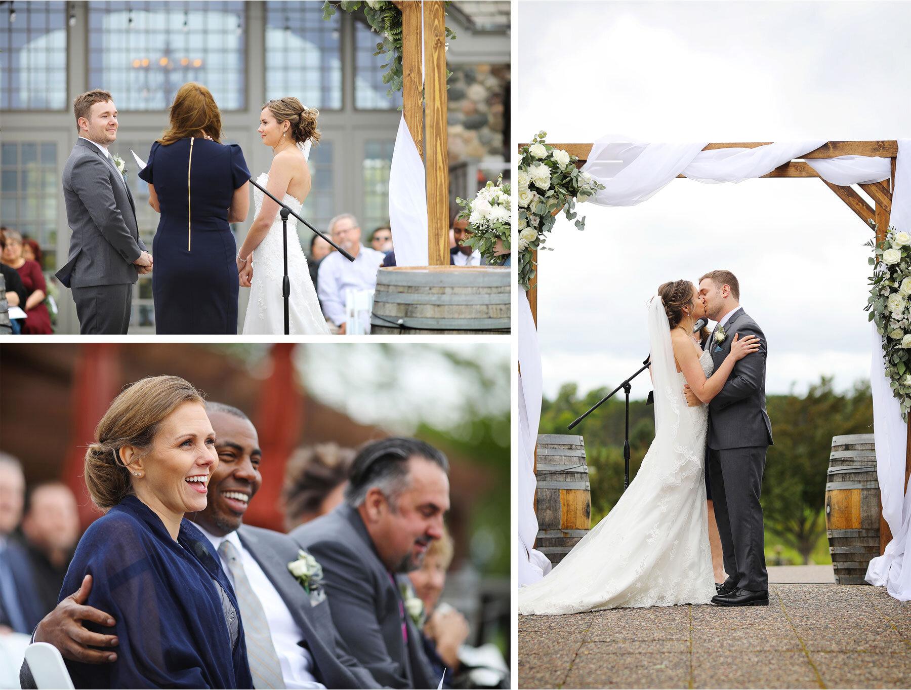 11-Vick-Photography-Minneapolis-Minnesota-Wedding-Rush-Creek-Golf-Club-Ceremony-Outdoor-Bride-Groom-Kiss-Amanda-and-Michael.jpg