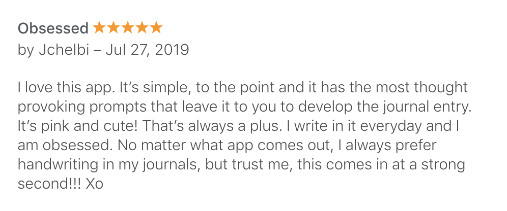 Prompted Journal (Apple, US)