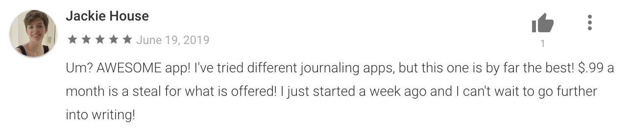 Prompted Journal (Google Play)