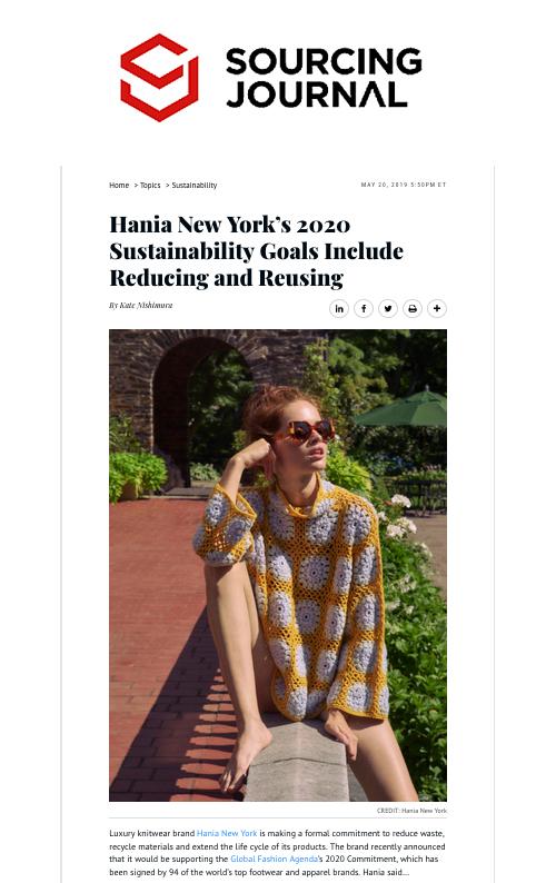 HANIA NEW YORK | Luxury Sustainable Knitwear | HANIA New