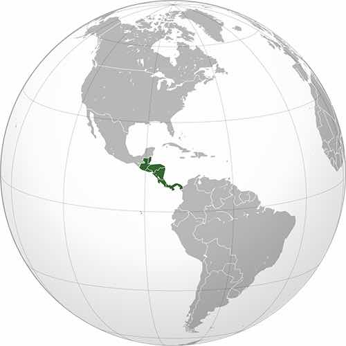 Map of OneKid OneWorld locations in Central America